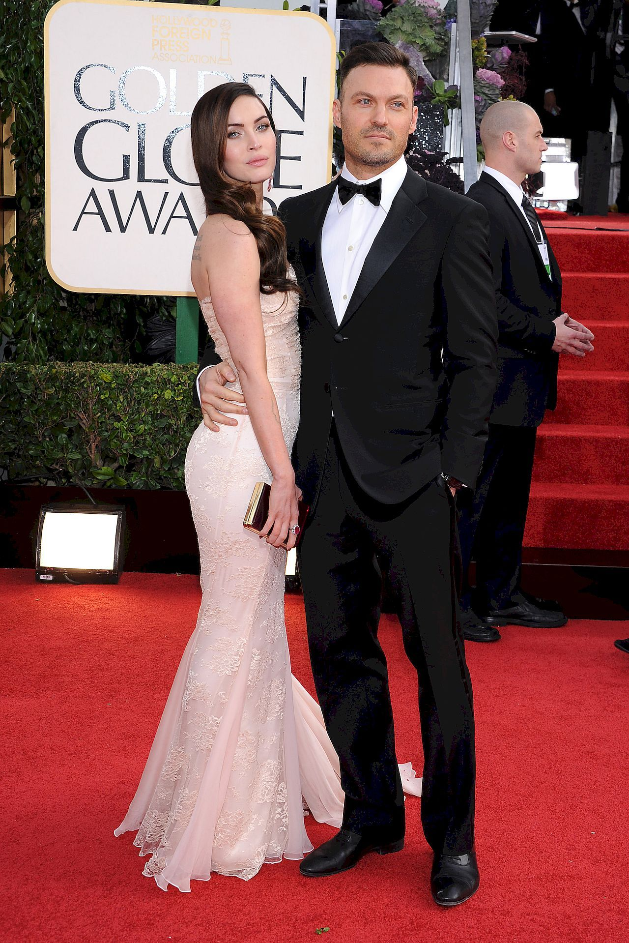 Megan Fox i Brian Austin Green na czerwonym dywanie