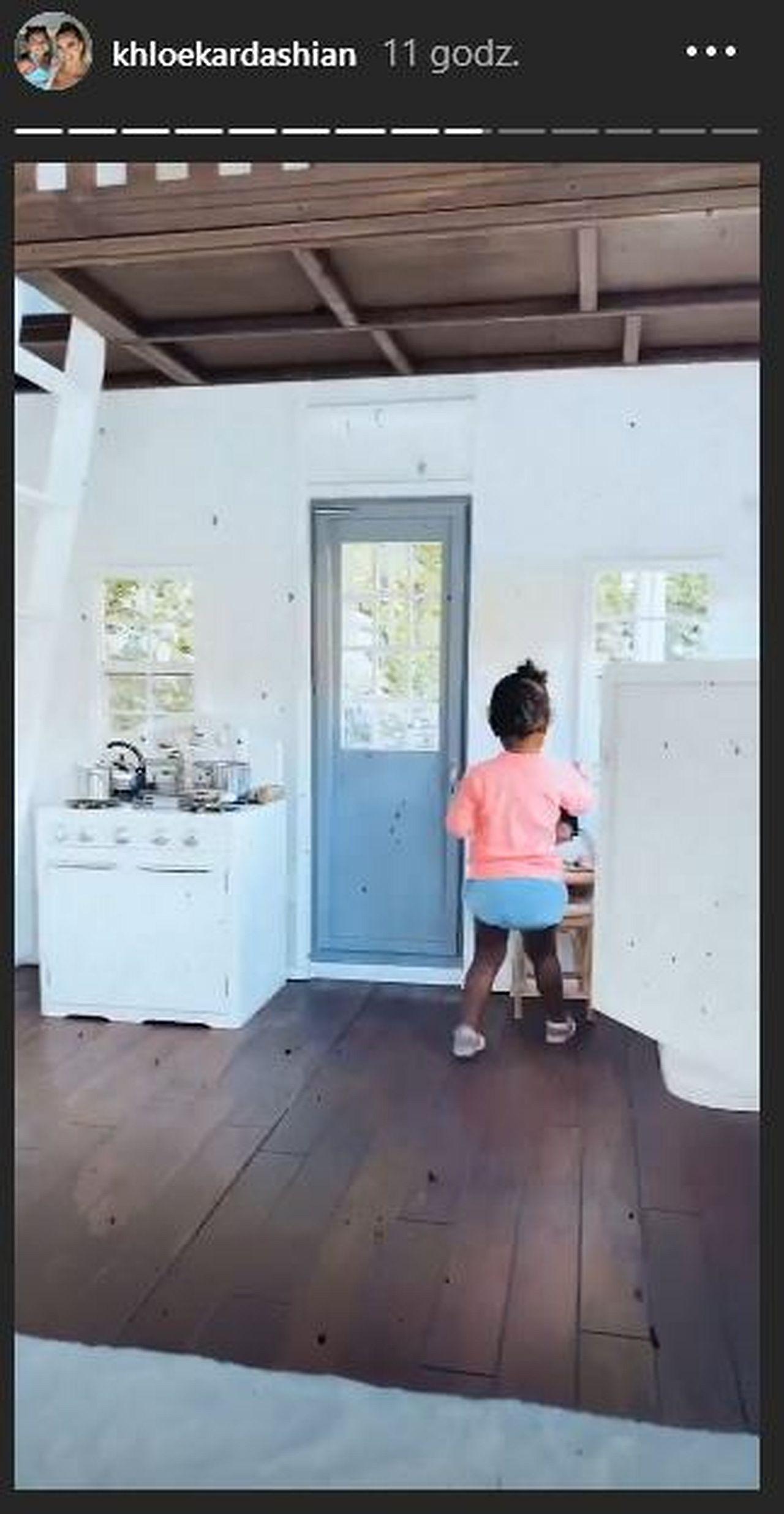 Córka Khloe Kardashian w swoim domku
