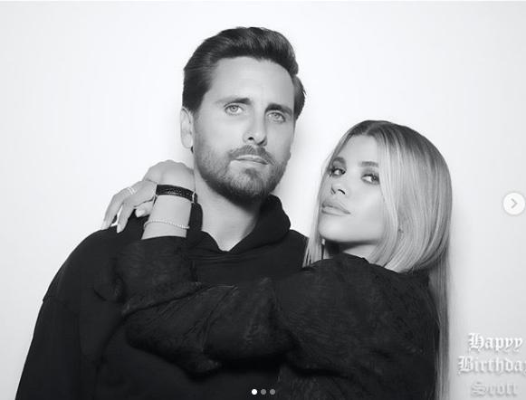 Scott Disick i Sofia Richie.Screen: Instagram