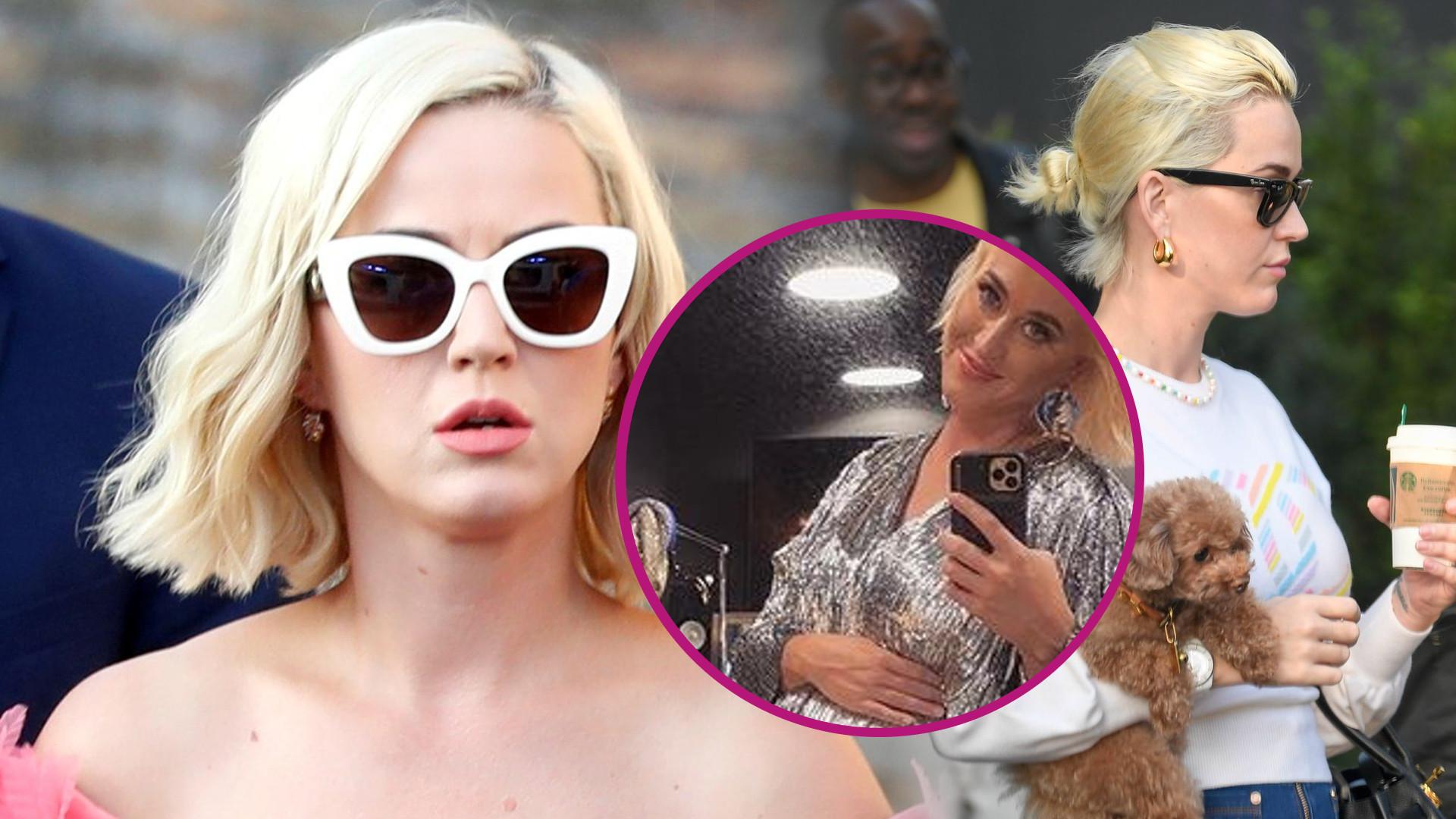 Katy Perry pokazuje BARDZO duży brzuszek w srebrnej kreacji