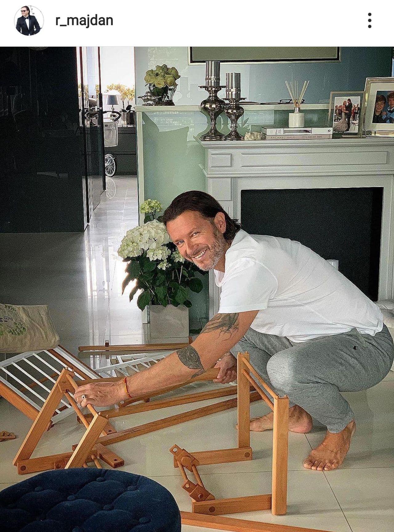 Radosław Majdan pokazał wózek dla syna