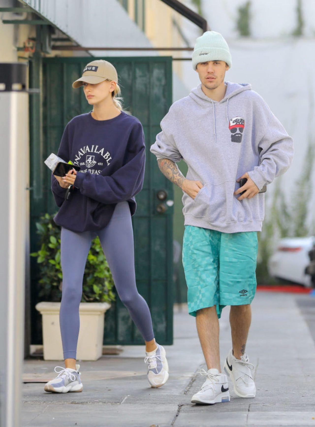 Justin Bieber, Hailey Bieber przyłapani przez fotoreporterów/
