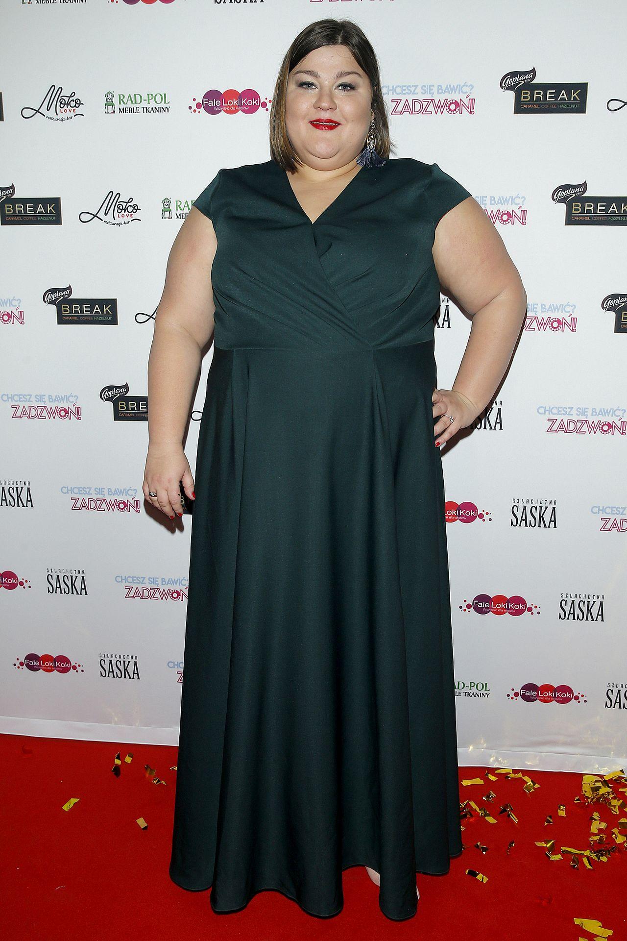 Dominika Gwit w wieczorowej sukni