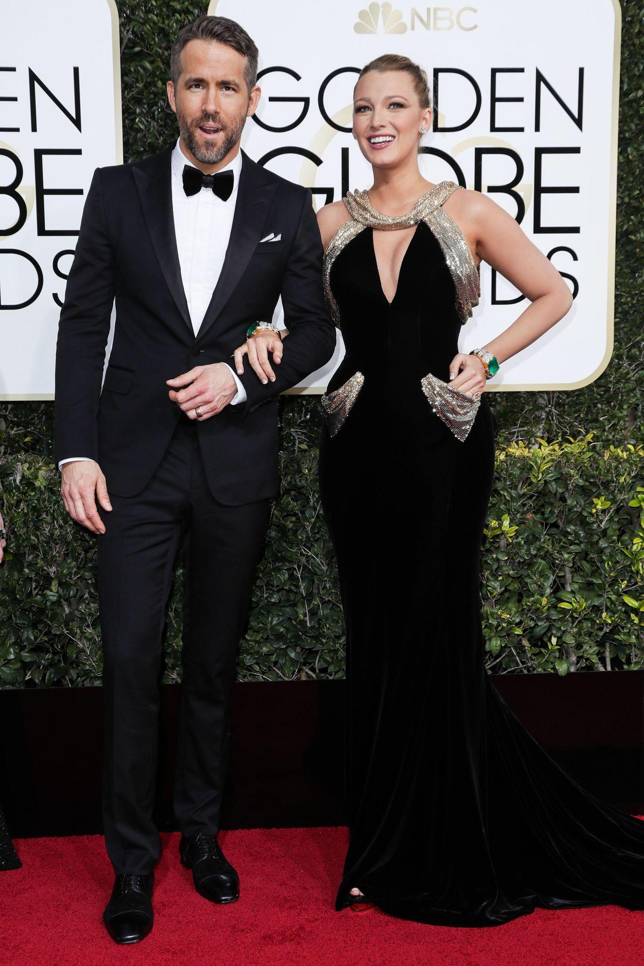 Ryan Reynolds i Blake Lively na czerwonym dywanie