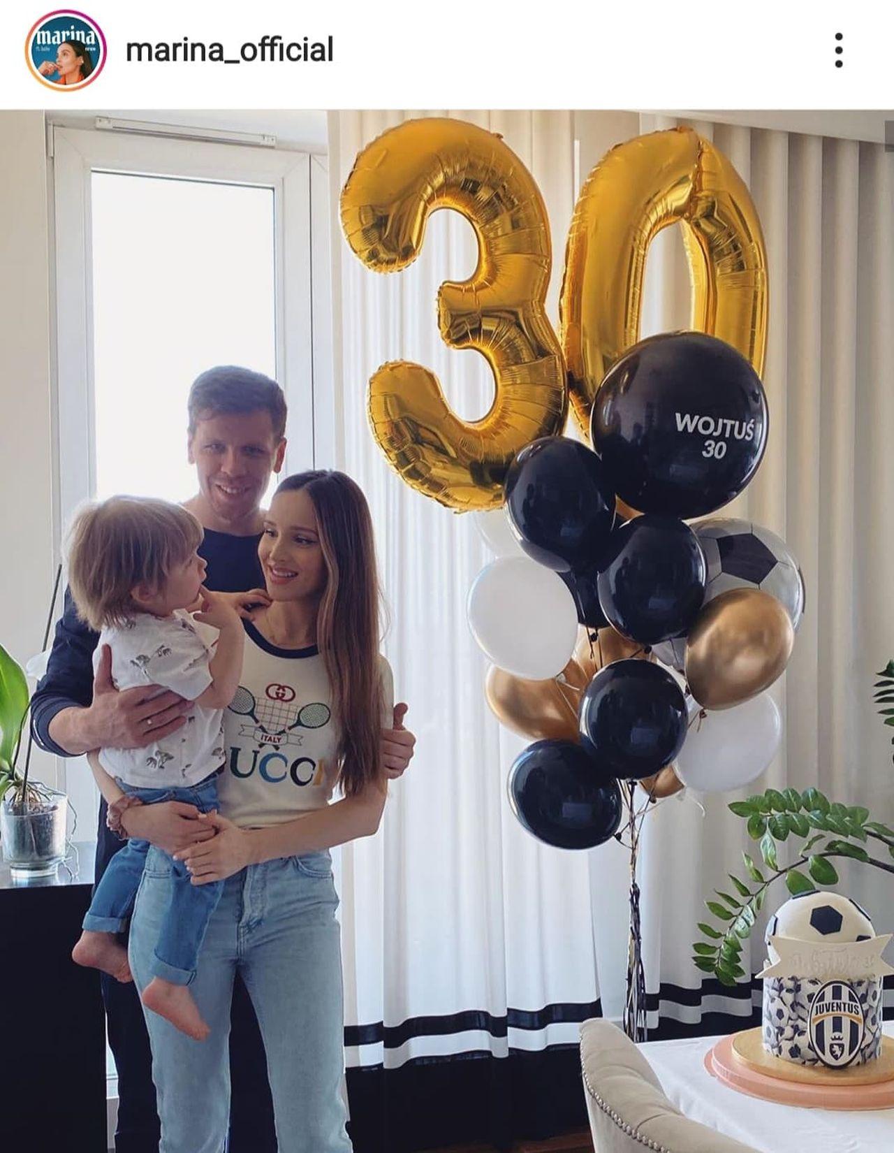 Marina i Wojciech Szczęśni z synem