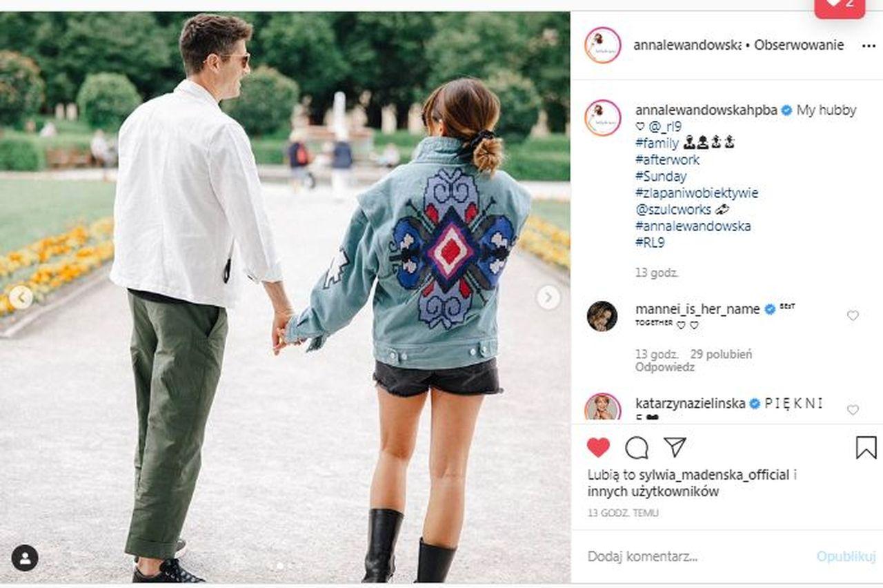 Anna Lewandowska w dżinsowej kurtce od Isabel Marant