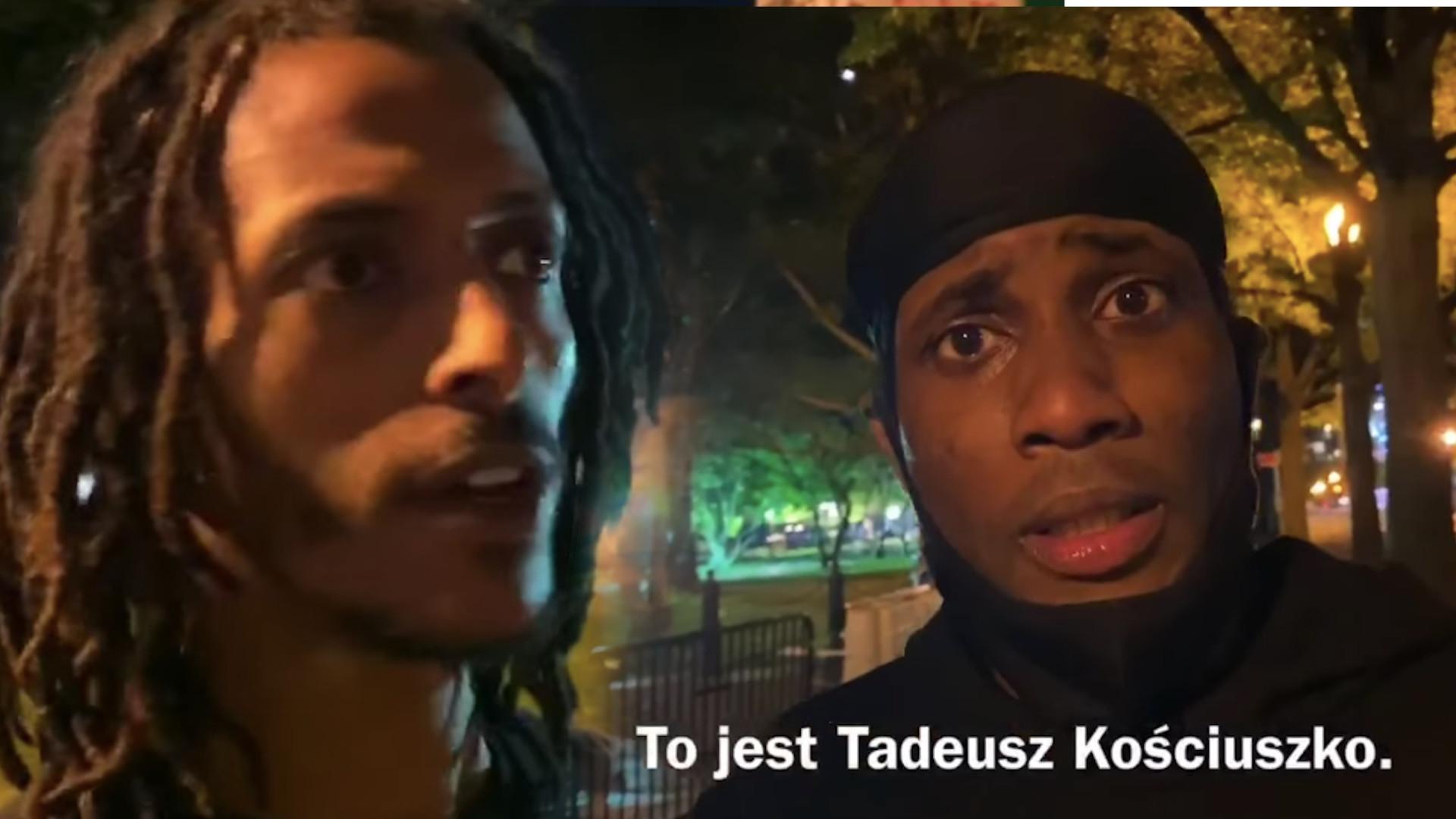 Pomnik Tadeusza Kościuszki ZDEWASTOWANY. Polak zapytał Afroamerykanów, dlaczego to zrobili (WIDEO)