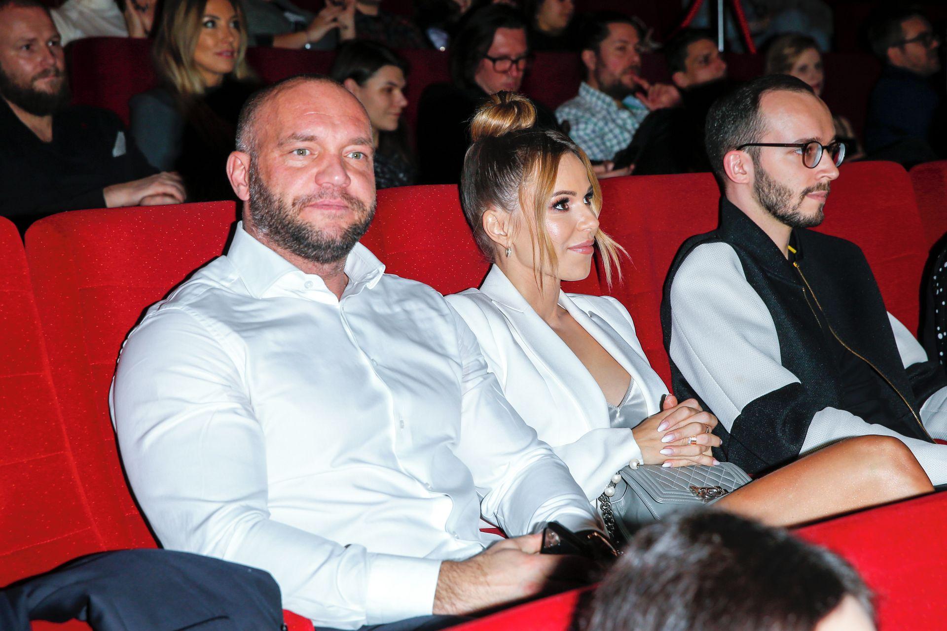 Doda z mężem Emilem na premierze filmu.