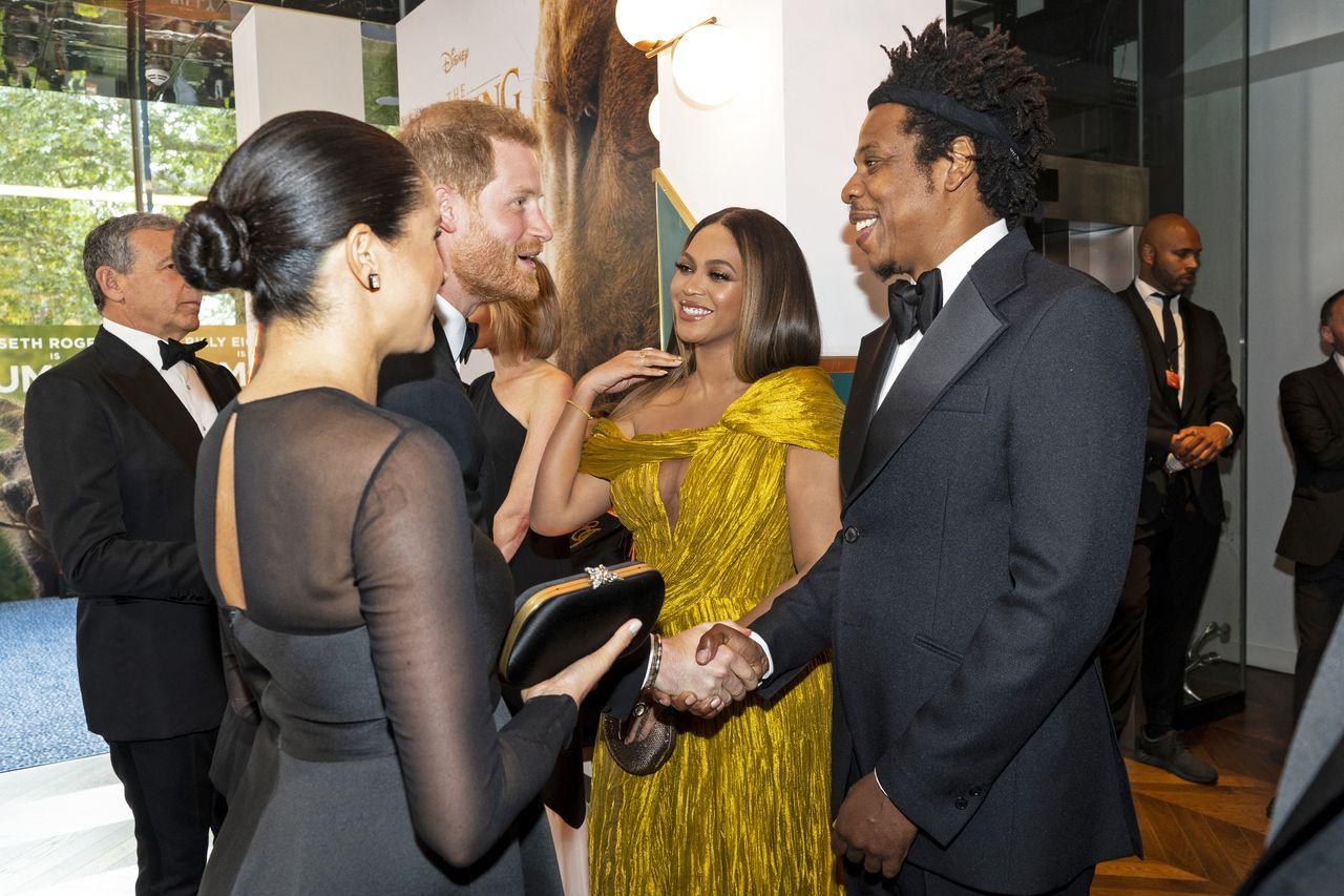 Beyonce i Jay Z na spotkaniu z Meghan Markle i Harrym