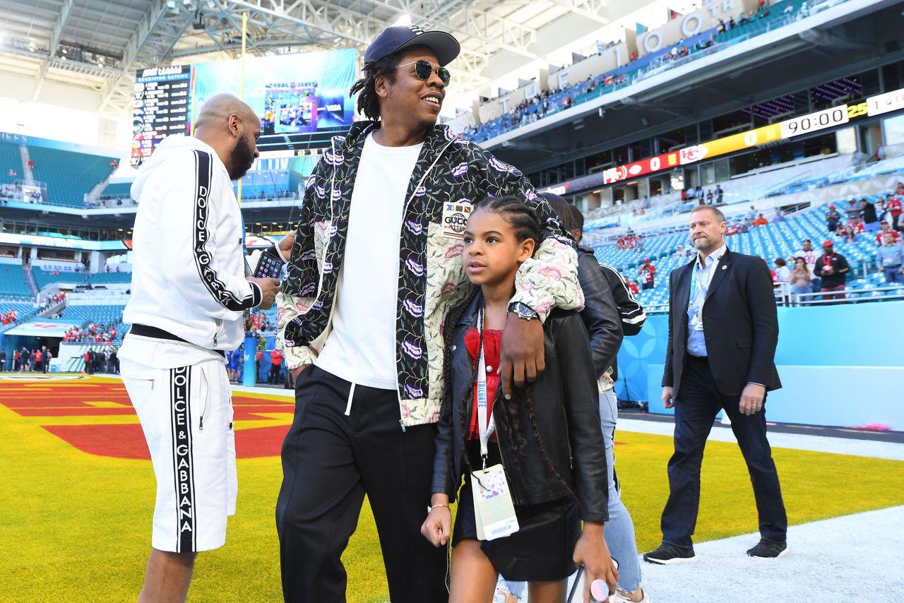 Jay Z z córką, Blue Ivy, luty 2020