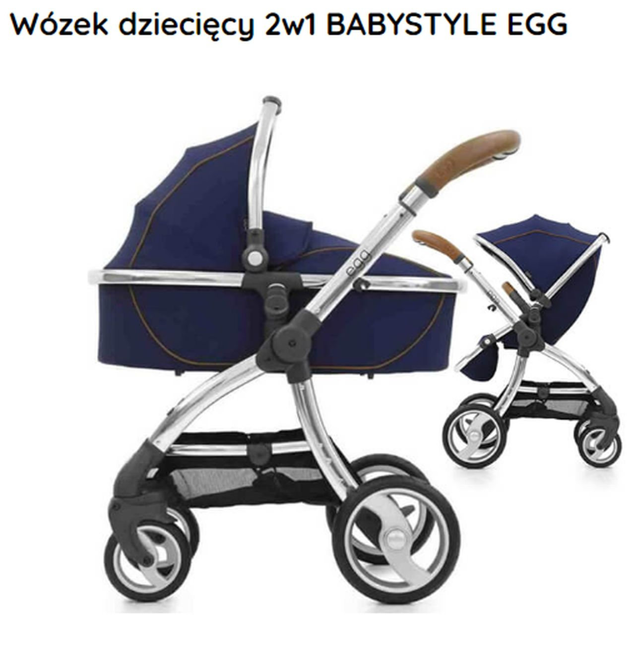 Granatowy wózek dziecięcy