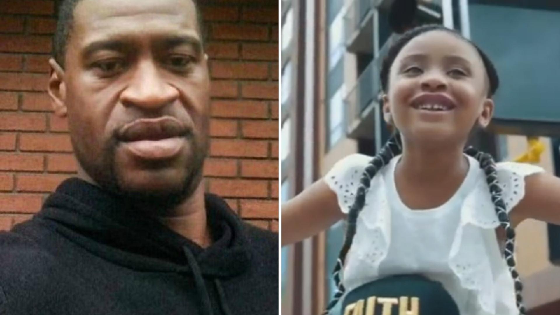 """6-letnia córka George'a Floyda wzięła udział w proteście. """"Tatuś zmienił świat"""""""