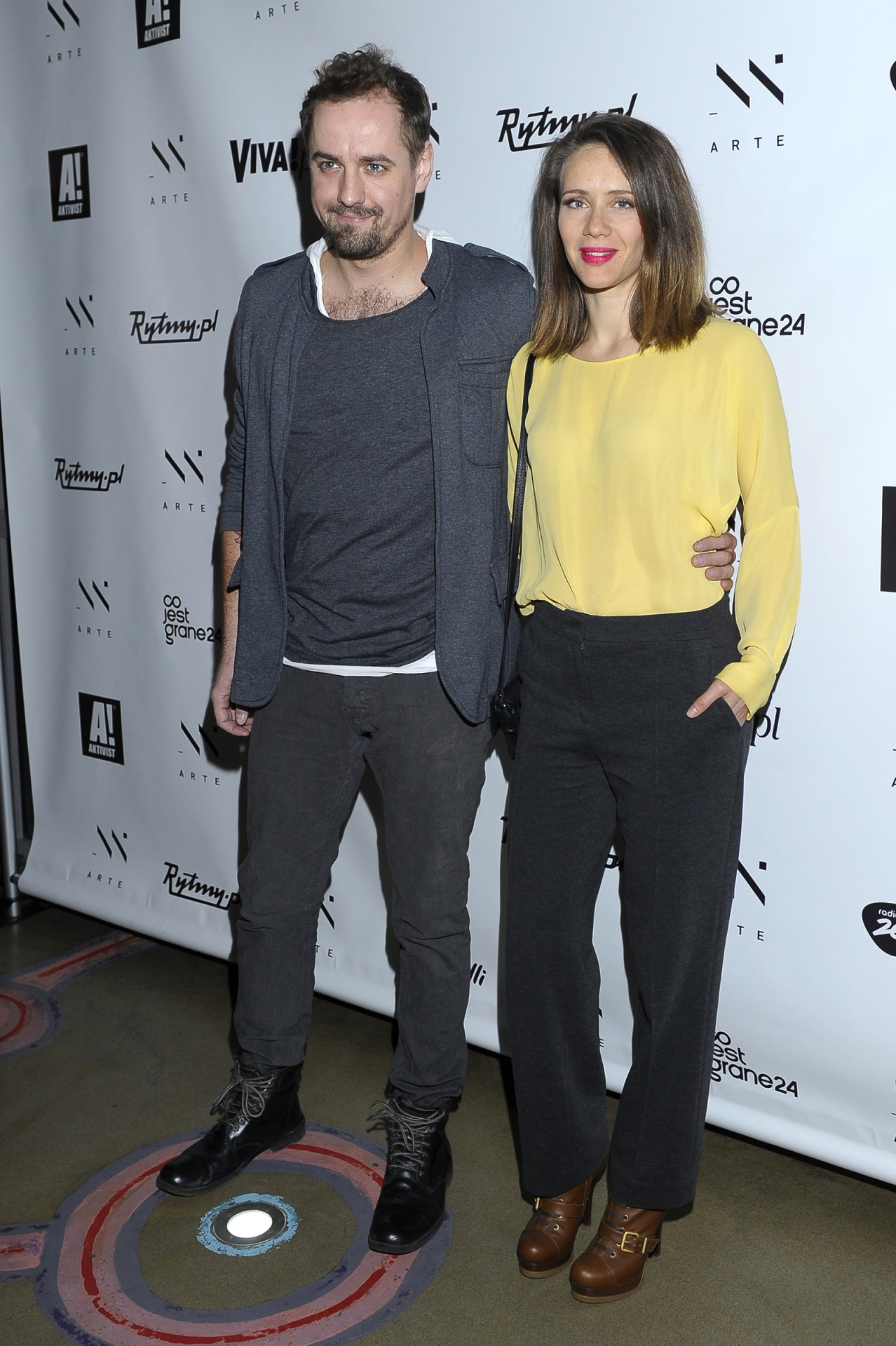 Jakubs Wons z żoną Hanną Konarowską.