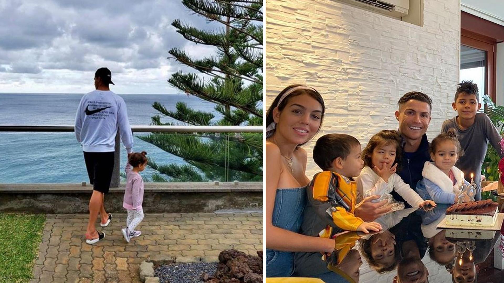 """Córeczki Cristiano Ronaldo już owinęły sobie tatę wokół palca: """"Kiedy widzę te dwie, zakochuję się na nowo"""""""