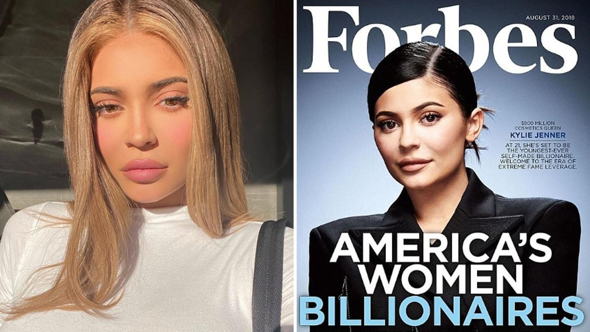 Kylie Jenner, chociaż nie jest już MILIONERKĄ, znowu na szczycie listy FORBESA