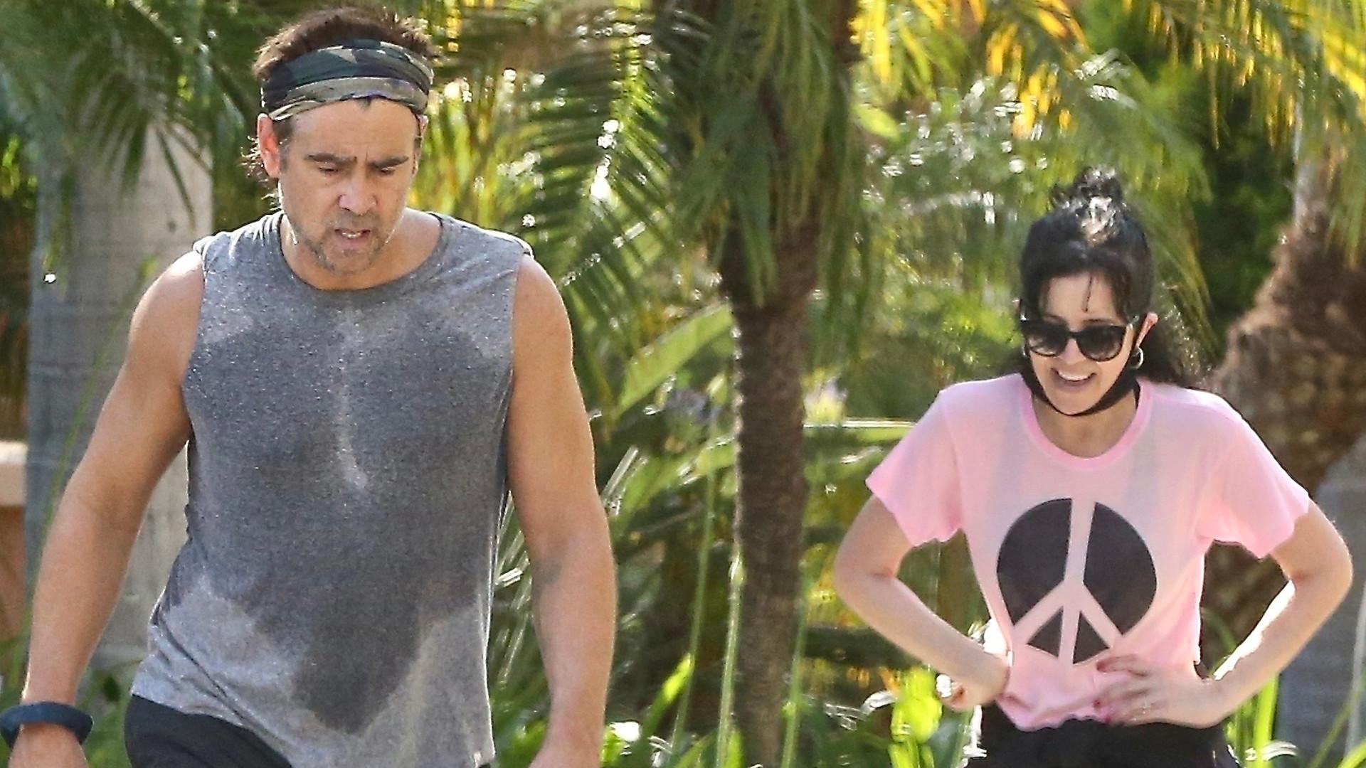 Wciąż jeszcze MACHO? Colin Farrell poci się na treningu z siostrą (ZDJĘCIA)