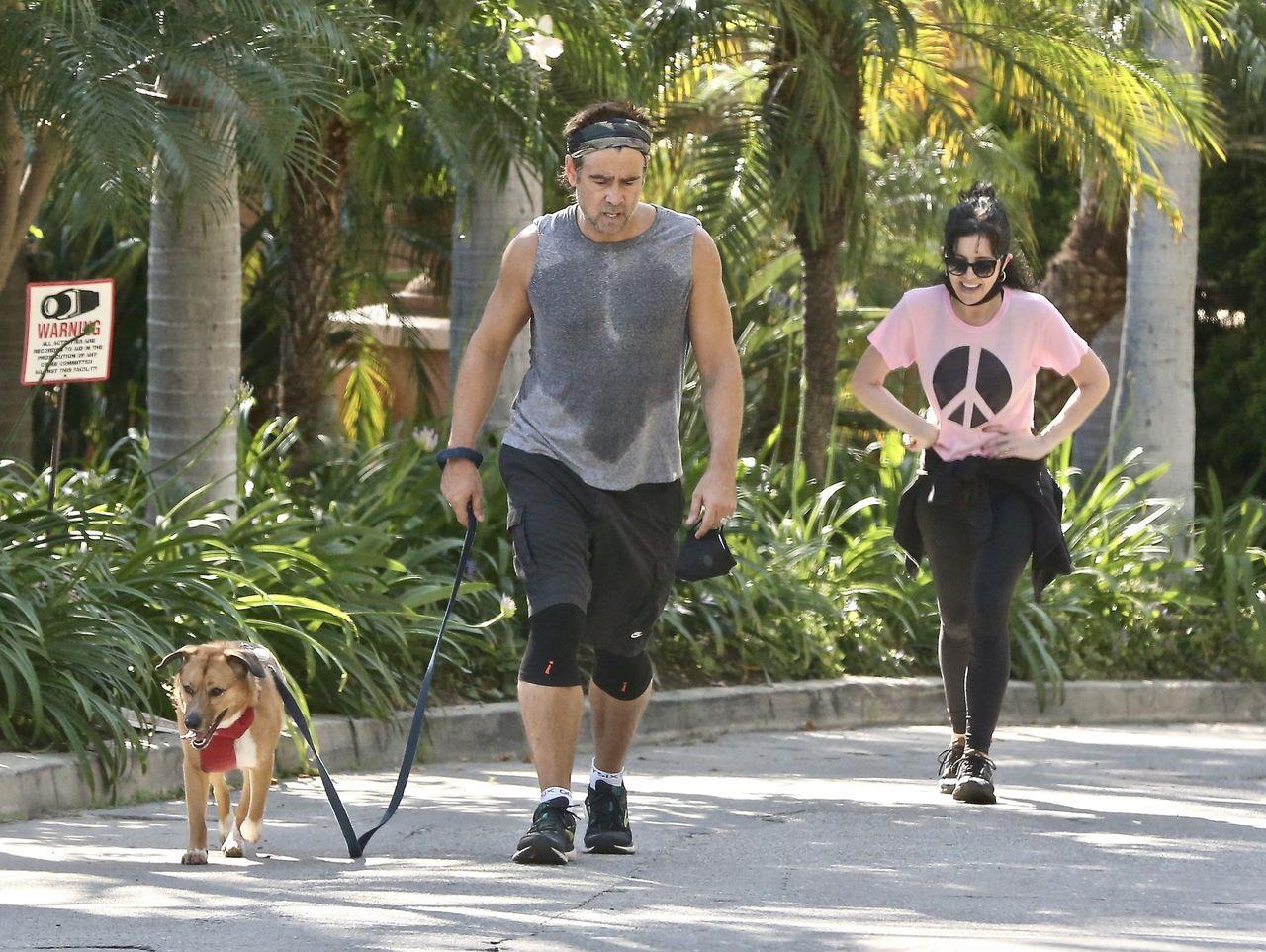 Colin Farrell z siostrą Claudine Farrell po joggingu