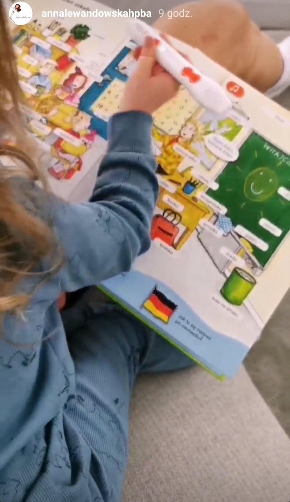 Klara Lewandowska uczy się angielskiego i niemieckiego