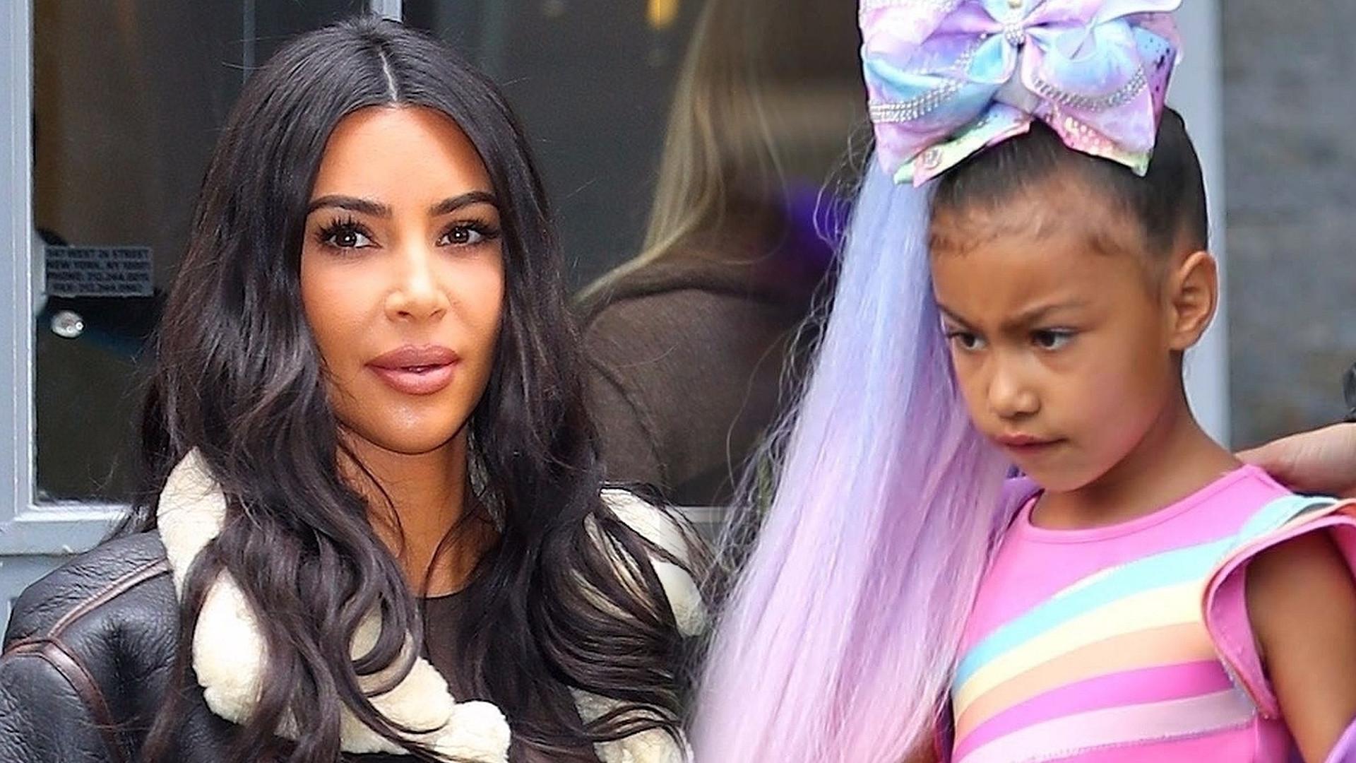 Kim Kardashian pokazała dzieci – fani LEDWO poznali jej córkę North