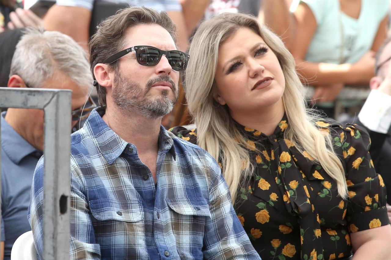 Kelly Clarkson z mężem.