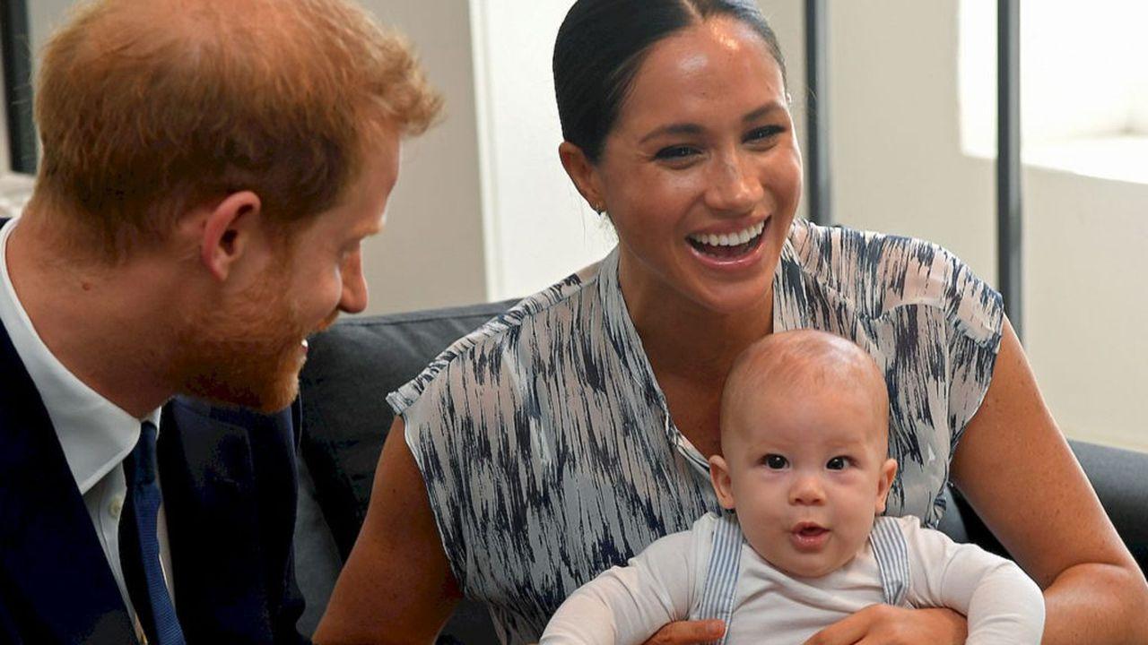 Książę Harry i Meghan Markle z synem.