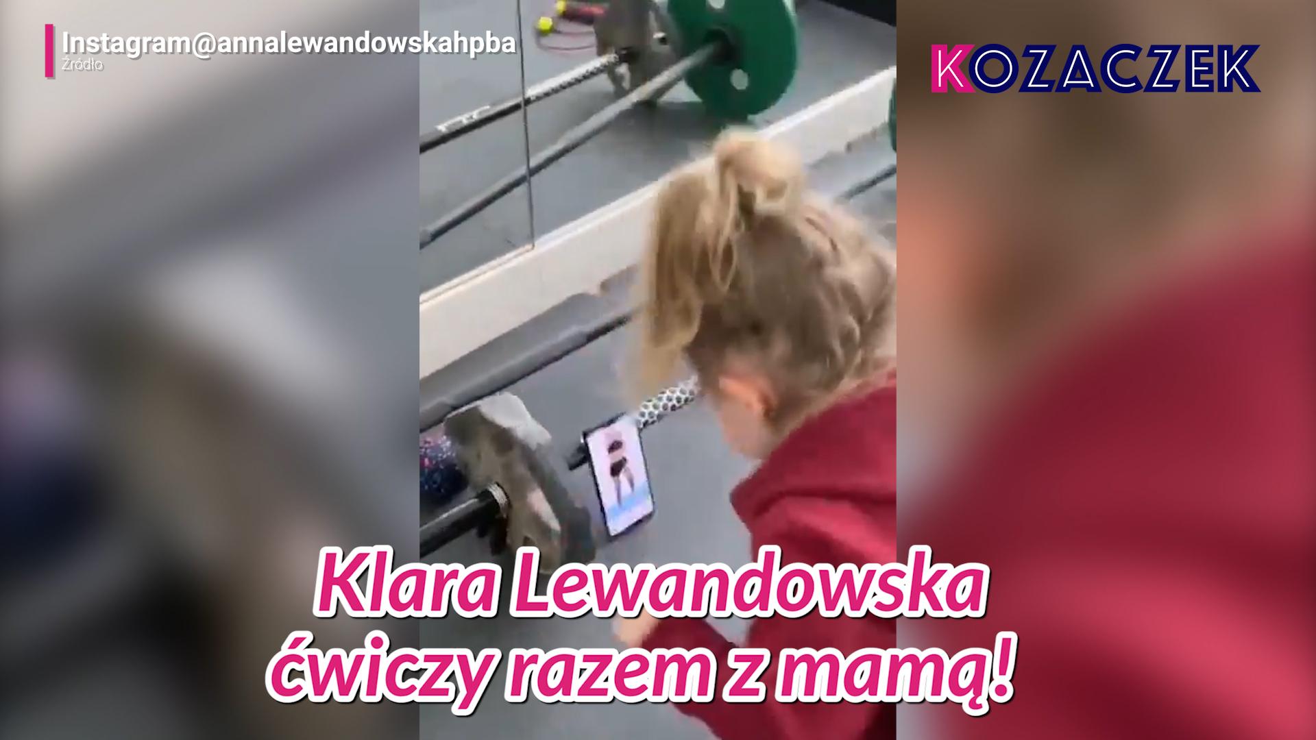 Klara Lewandowska ćwiczy razem z mamą!