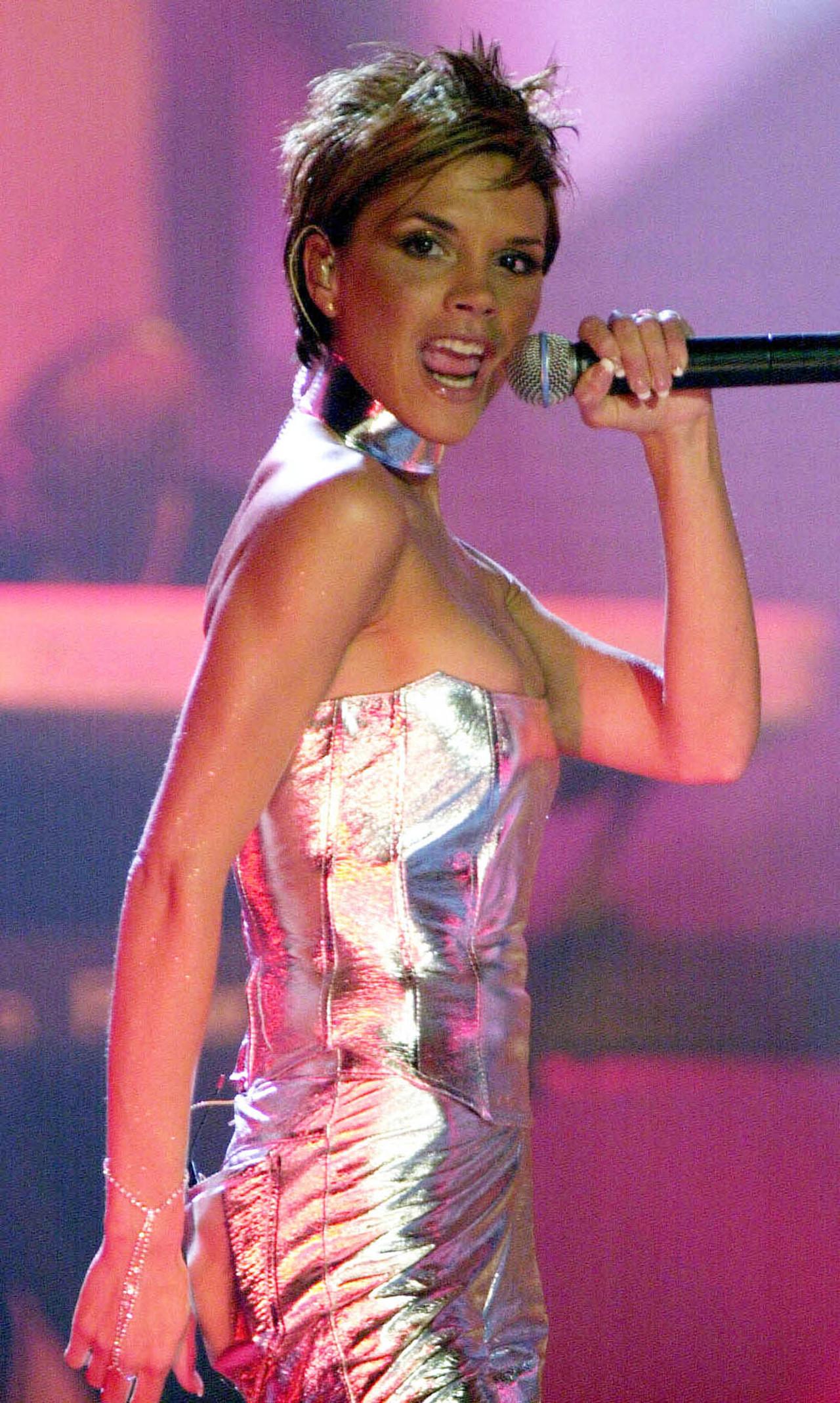 Victoria Beckham na scenie. .