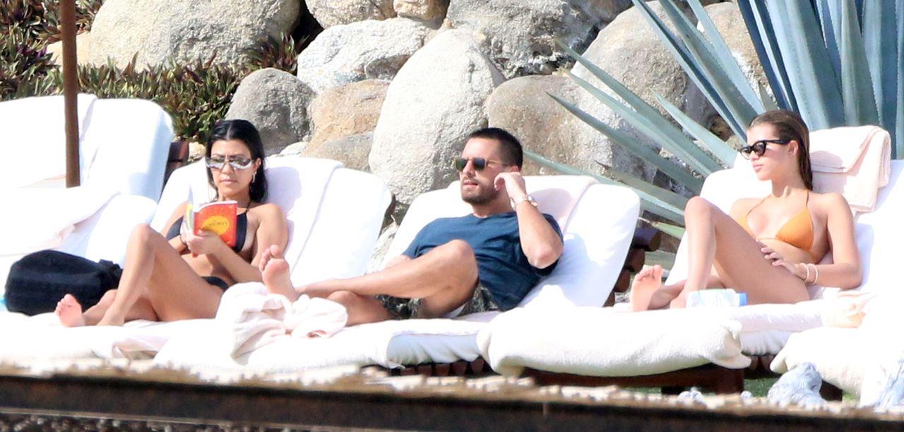 Wspólne wakacje: Kourtney Kardashian, Scott Disick i Sofia Richie