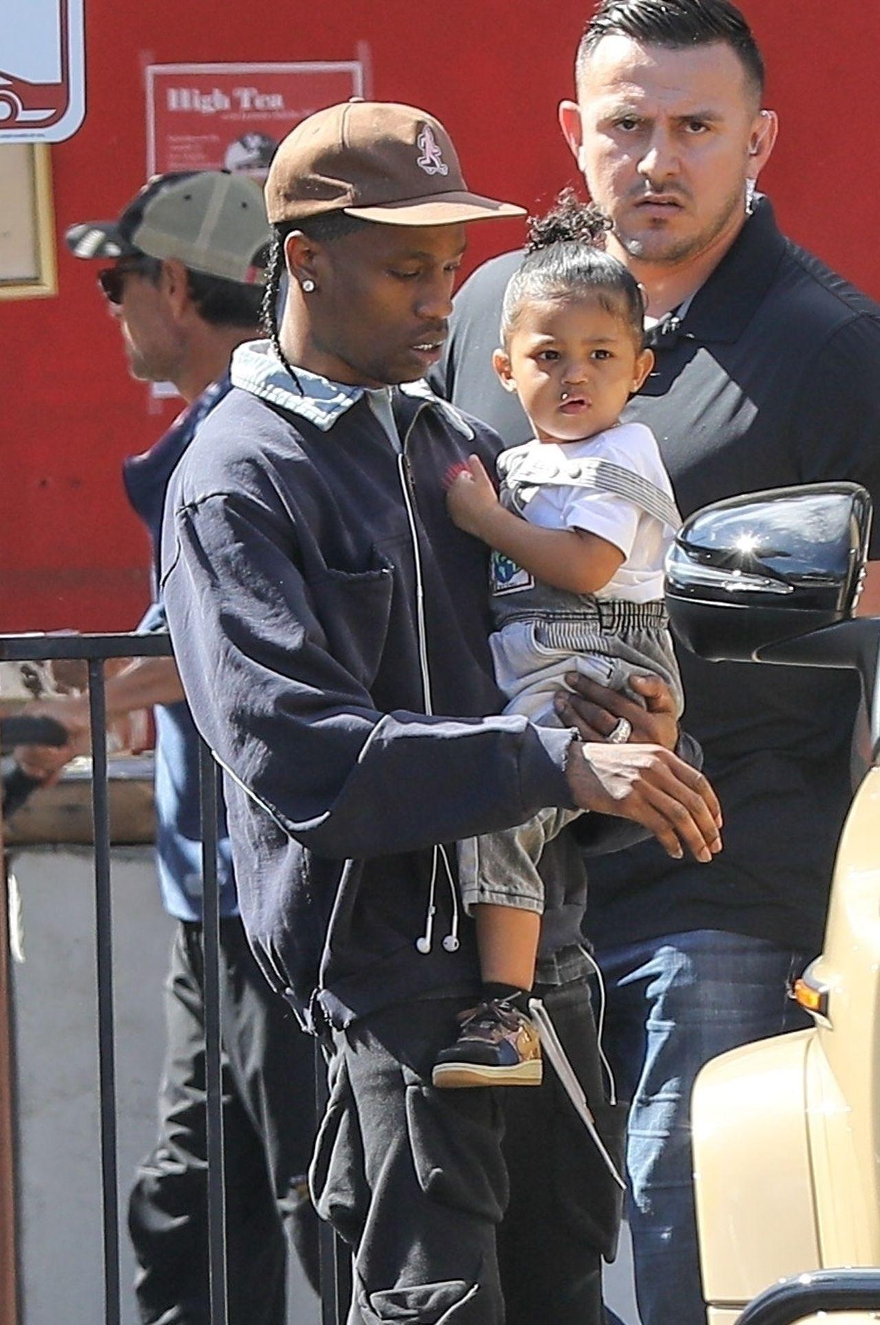 Travis Scott z córką Stormi Webster