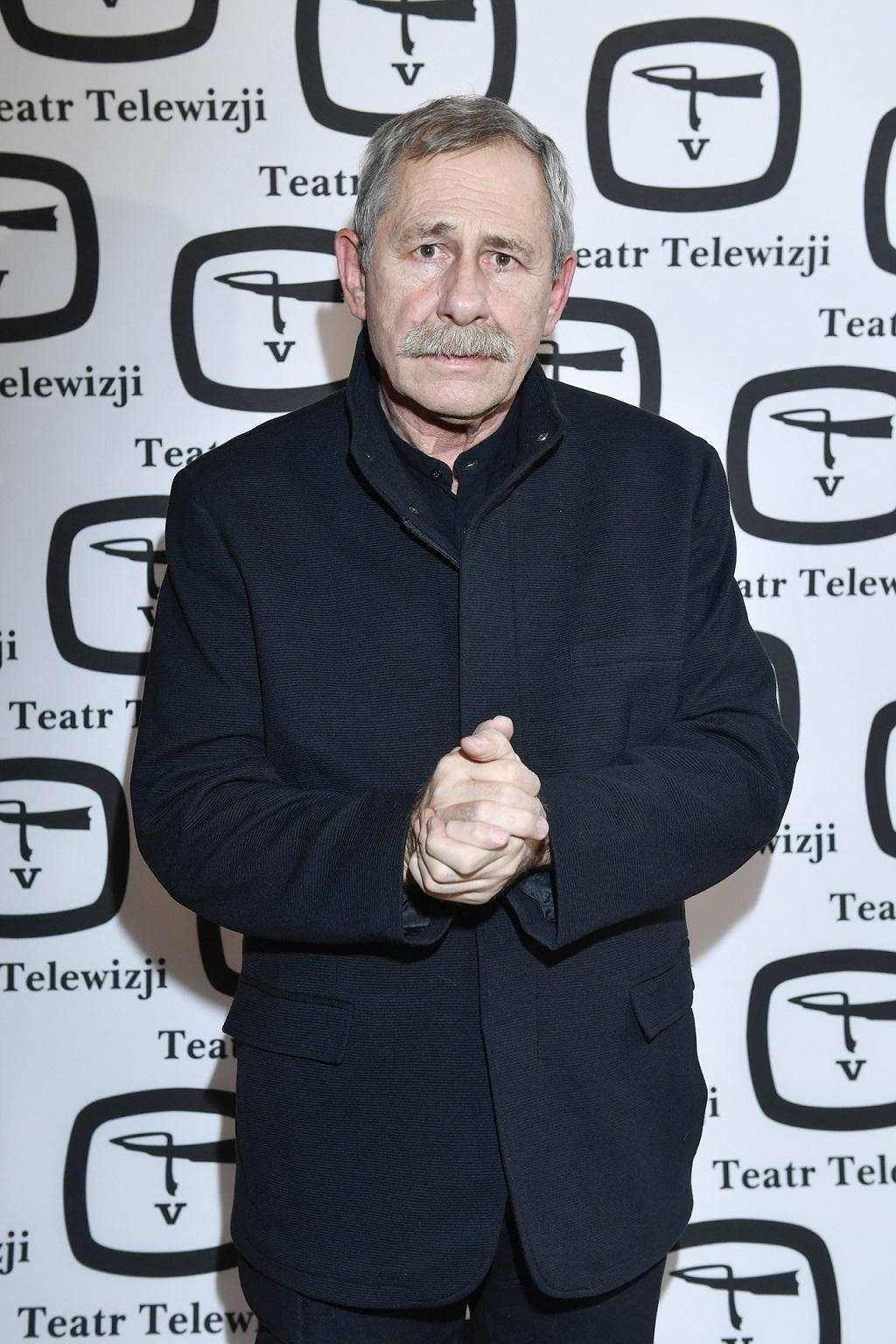 Andrzej Strzelecki na premierze spektaklu.