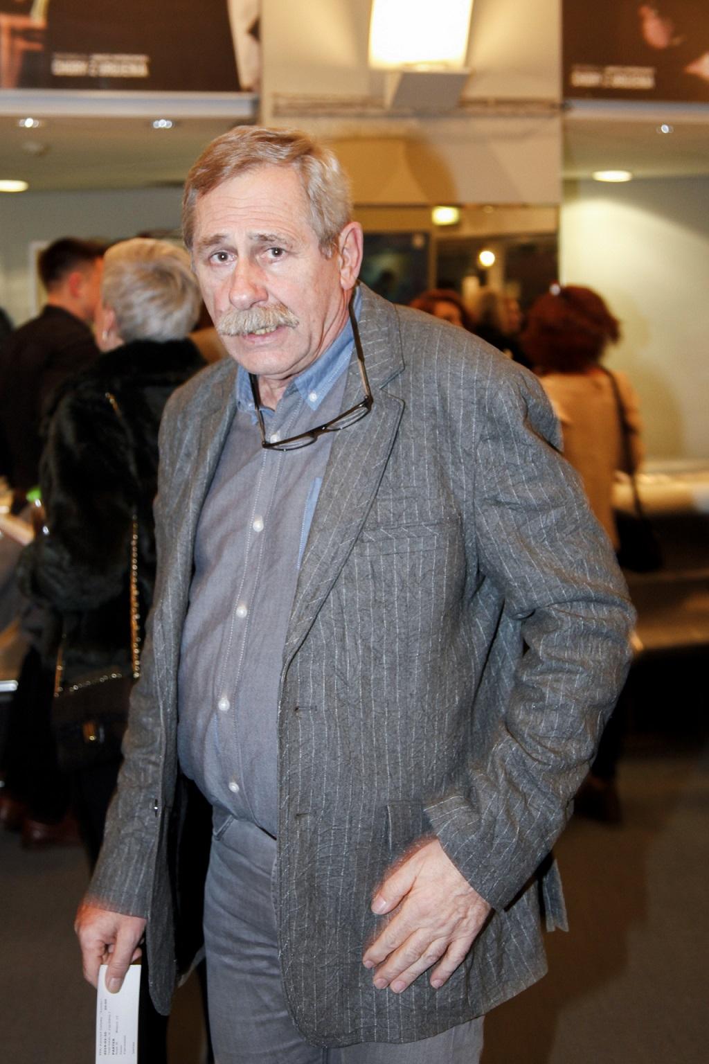 Andrzej Strzelecki na imprezie branżowej.