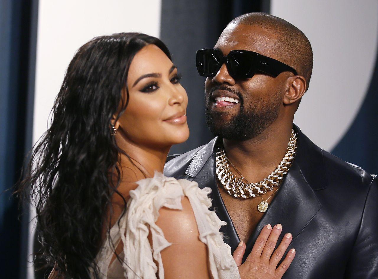 Kanye West z Kim Kardashian na gali Vanity Fair.