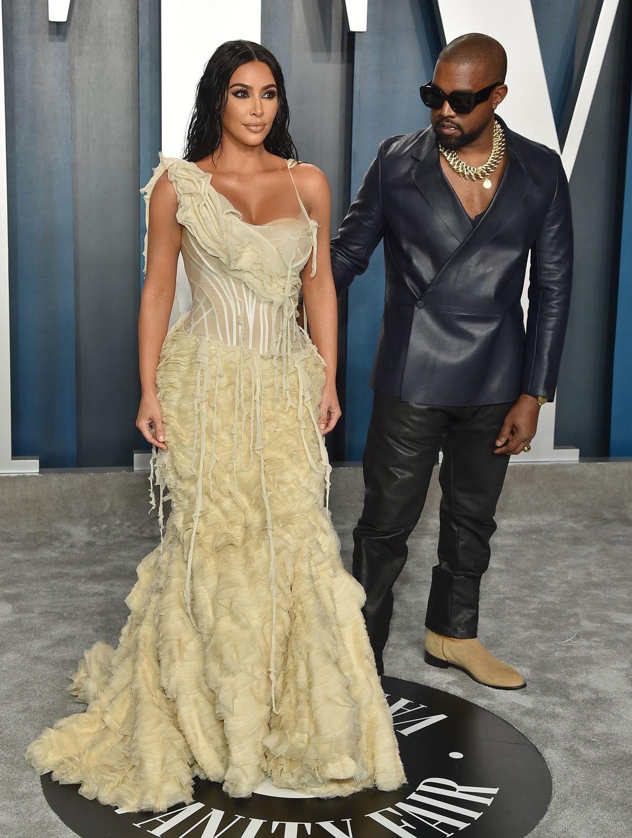 Kim Kardashian i Kanye West na gali Vanity Fair.