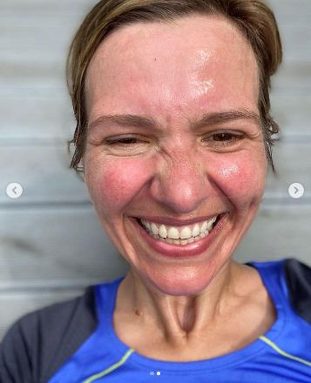 Joanna Koroniewska zmęczona ucieczką przed burzą, fot. Instagram Joanny Koroniewskiej