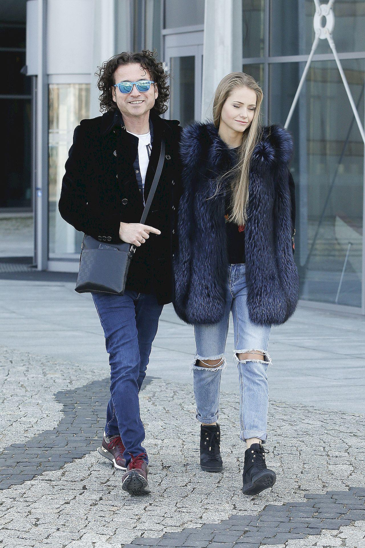 Piotr Rubik z żoną Agatą