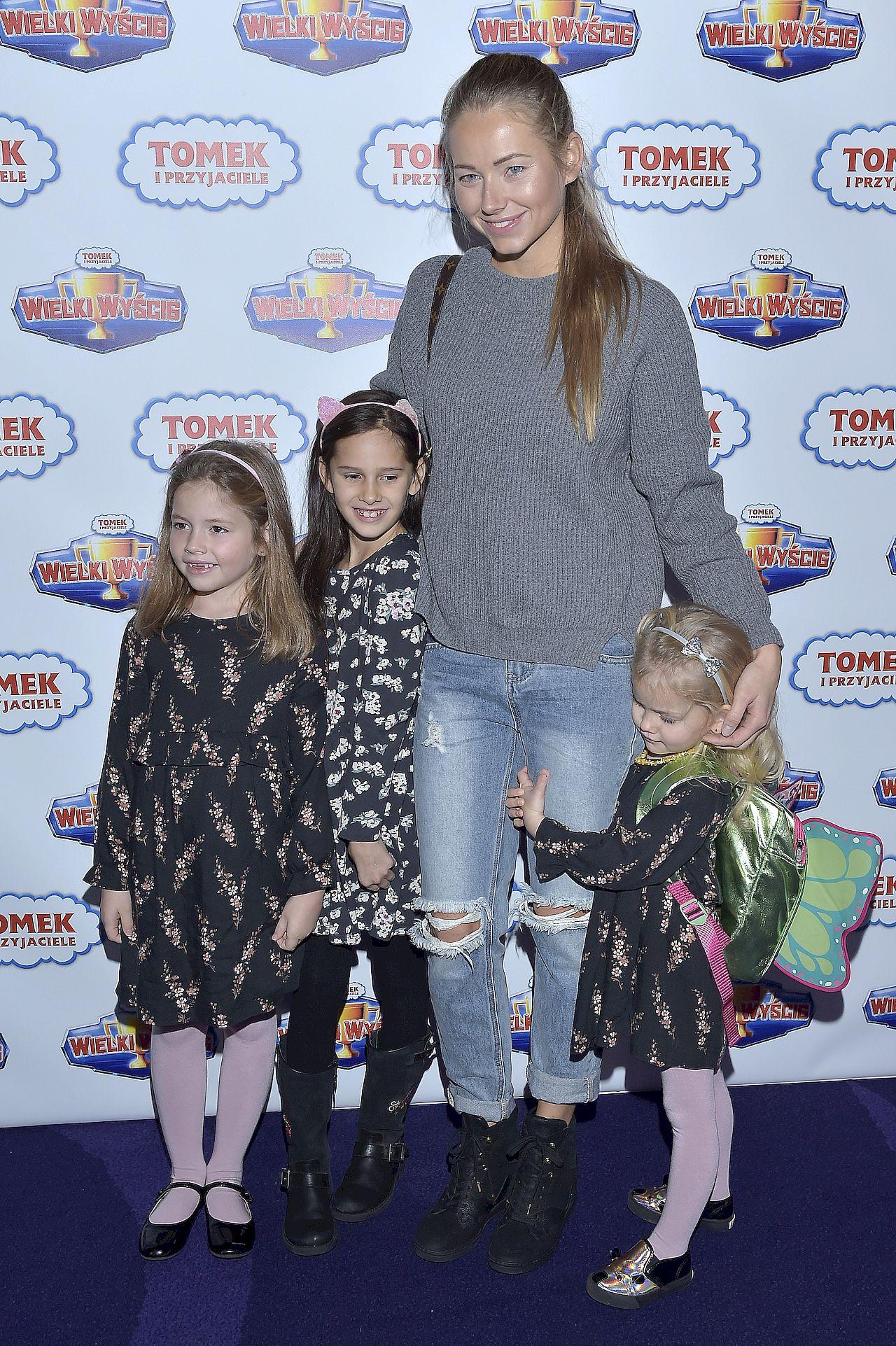 Agata Rubik z dziećmi