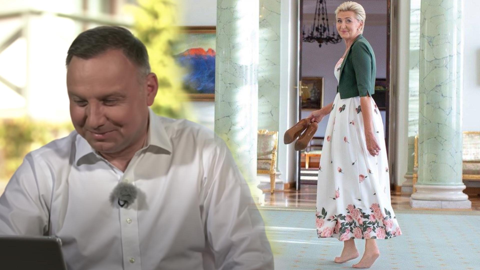 """Andrzej Duda zdradza, jak żyje z Agatą Dudą w Pałacu Prezydenckim: """"Żona robi zakupy w sklepie"""""""