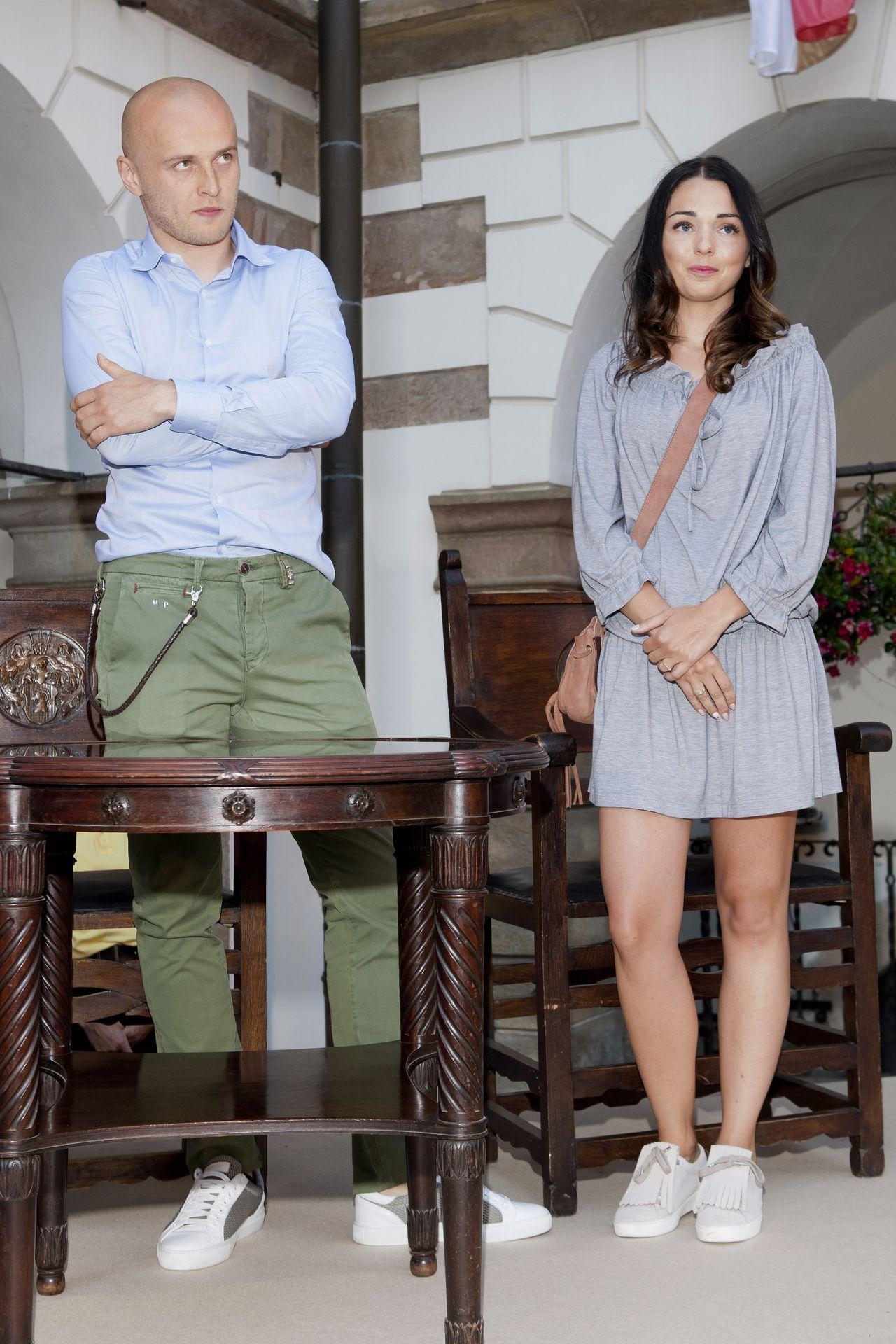 Michał Pazdan z żoną Dominiką