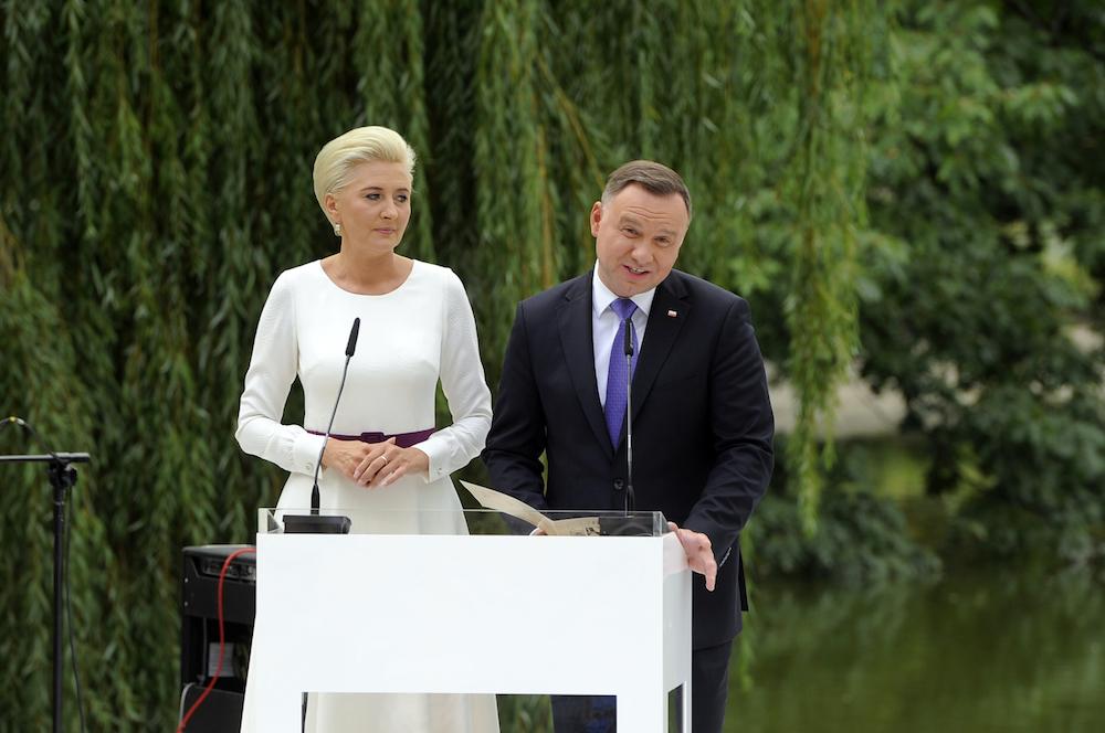 Agata Kornhauser-Duda, Andrzej Duda. fot. Gałązka/AKPA