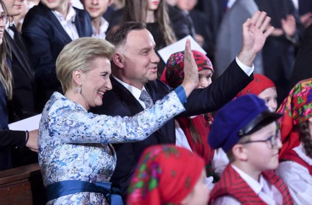Prezydent Andrzej Duda z żoną Agatą.