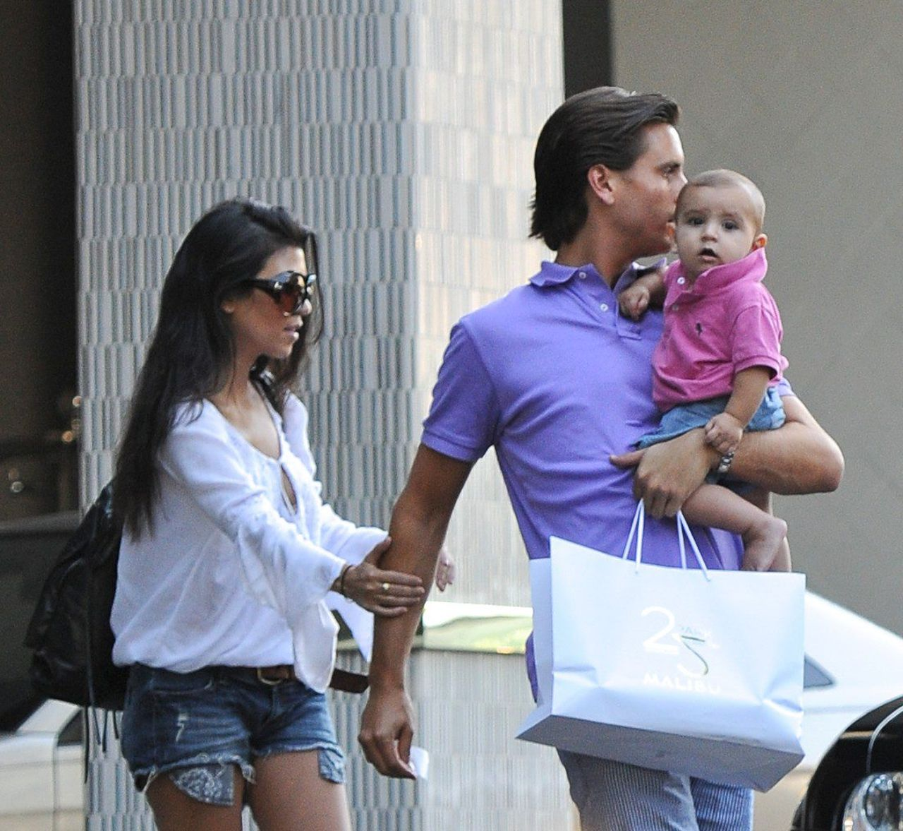 Kourtney Kardashian i Scott Disick gdy byli parą.