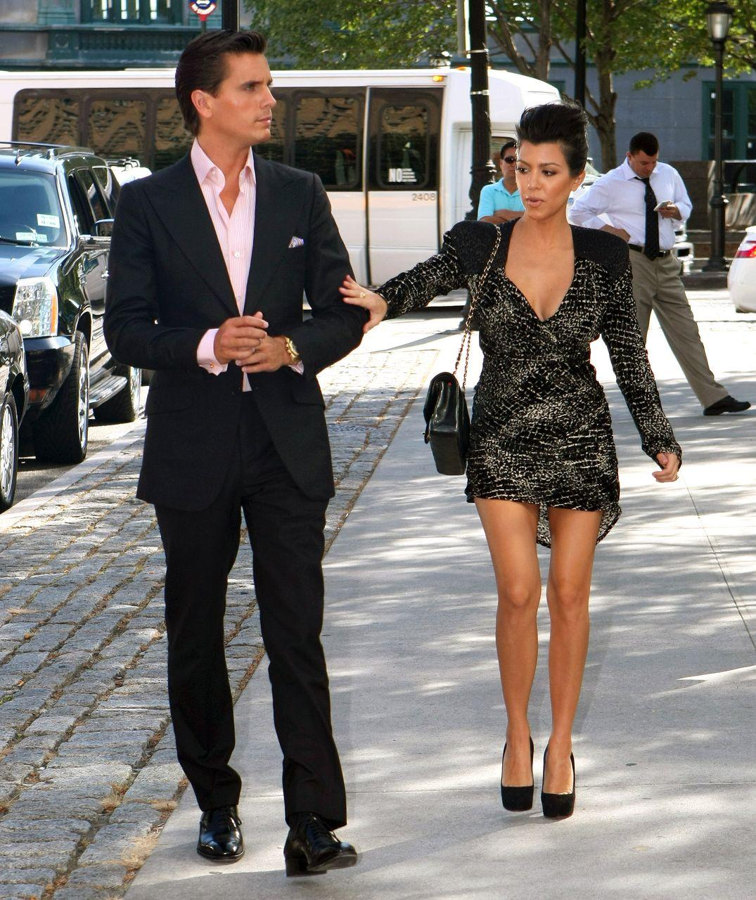 Kourtney Kardashian i Scott Disick gdy byli małżeństwem.