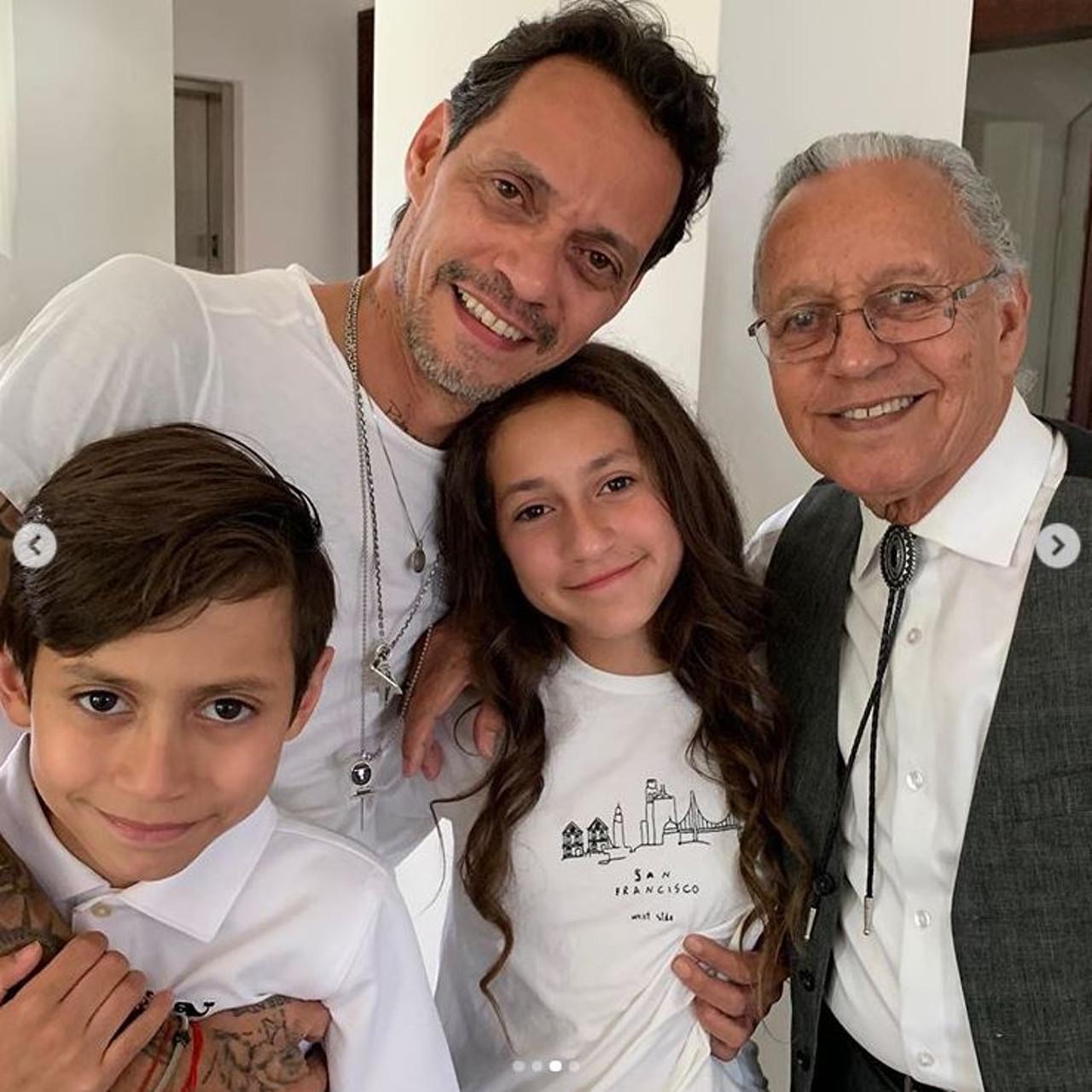 Były mąż JLo Marc Anthony z dziećmi