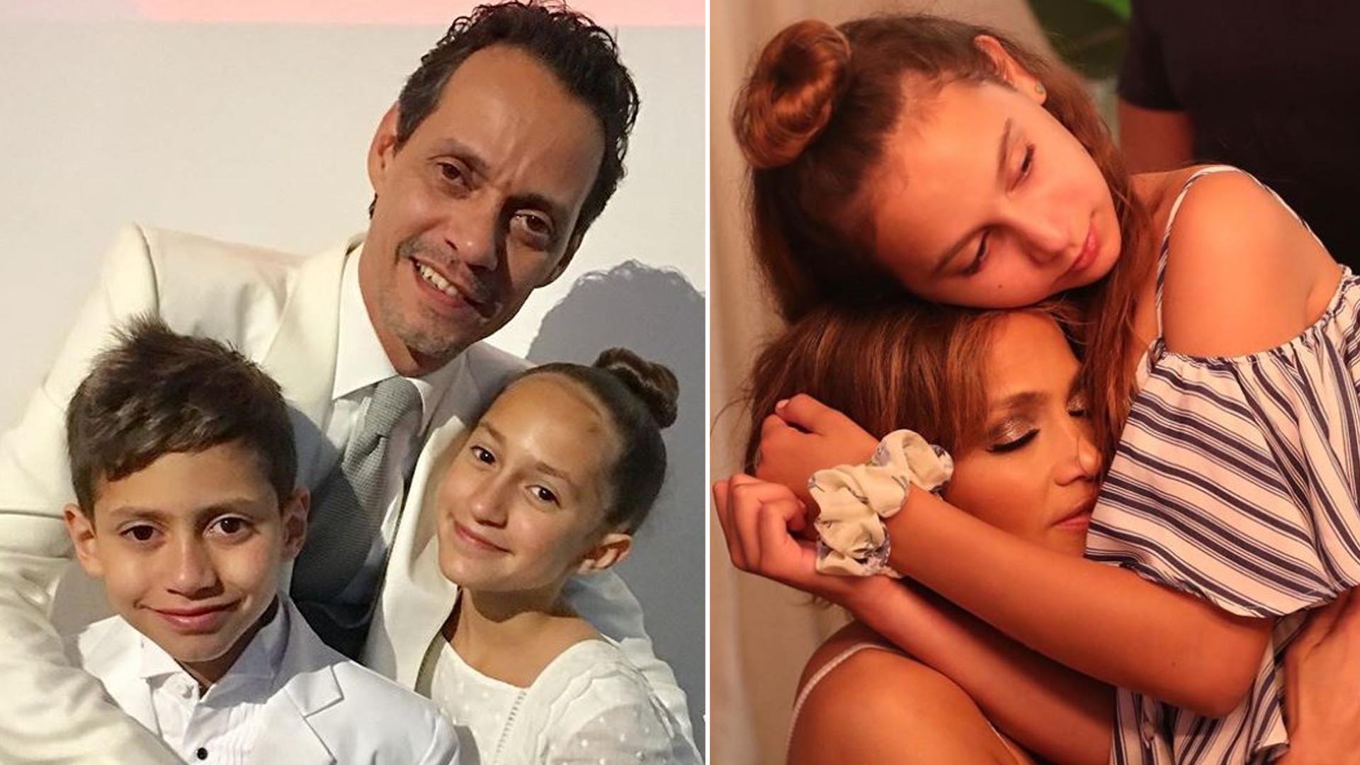 Jennifer Lopez pozuje z byłym mężem i dziećmi – co na to jej narzeczony?