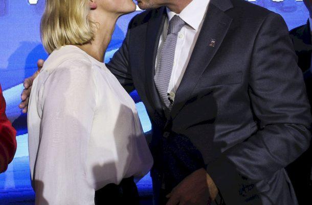 Prezydent Warszawy Rafał Trzaskowski z żoną Małgorzatą.