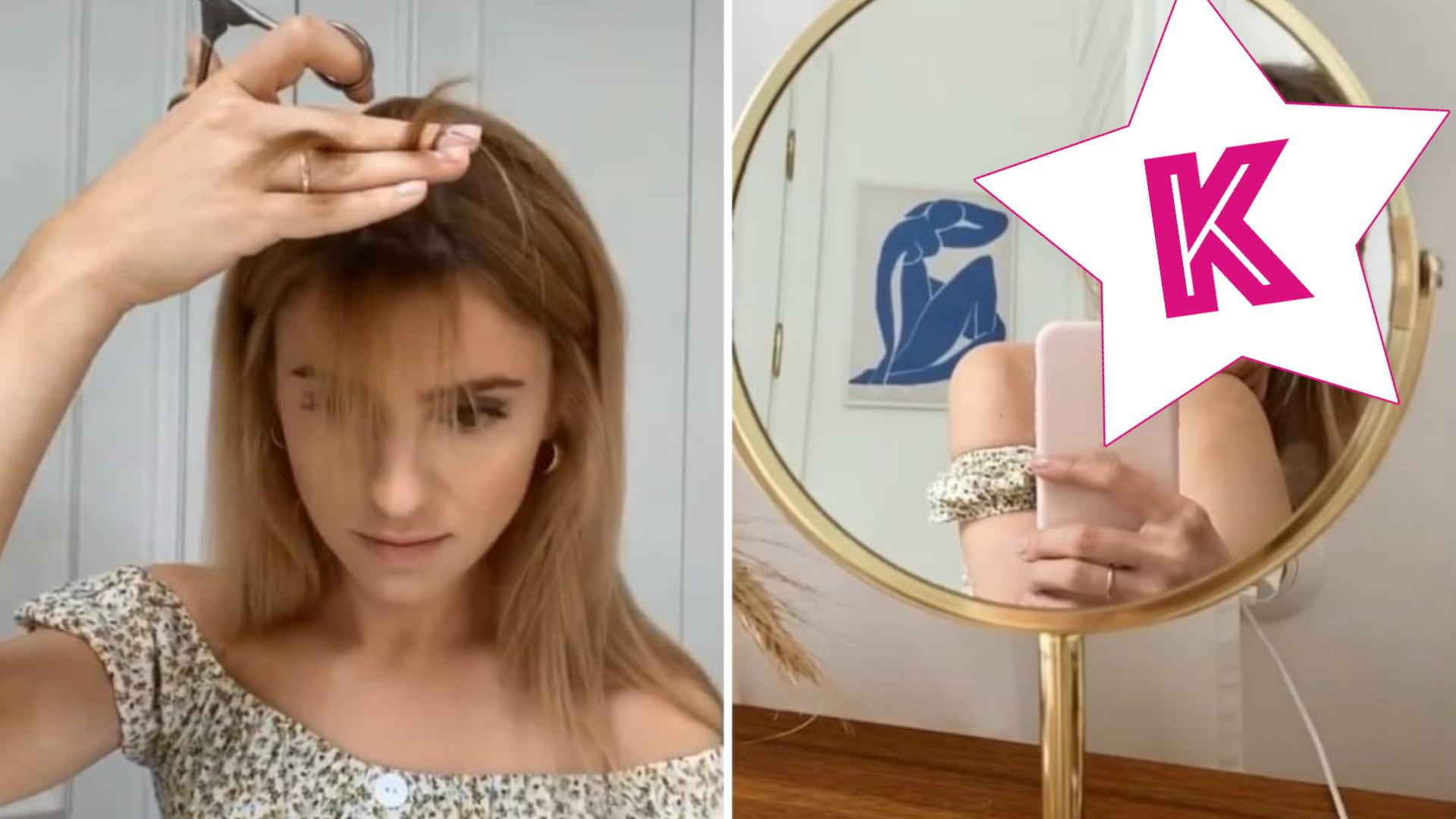 Kasia Tusk zmieniła fryzurę i sama zrobiła sobie GRZYWKĘ. Użyła do tego… łyżki