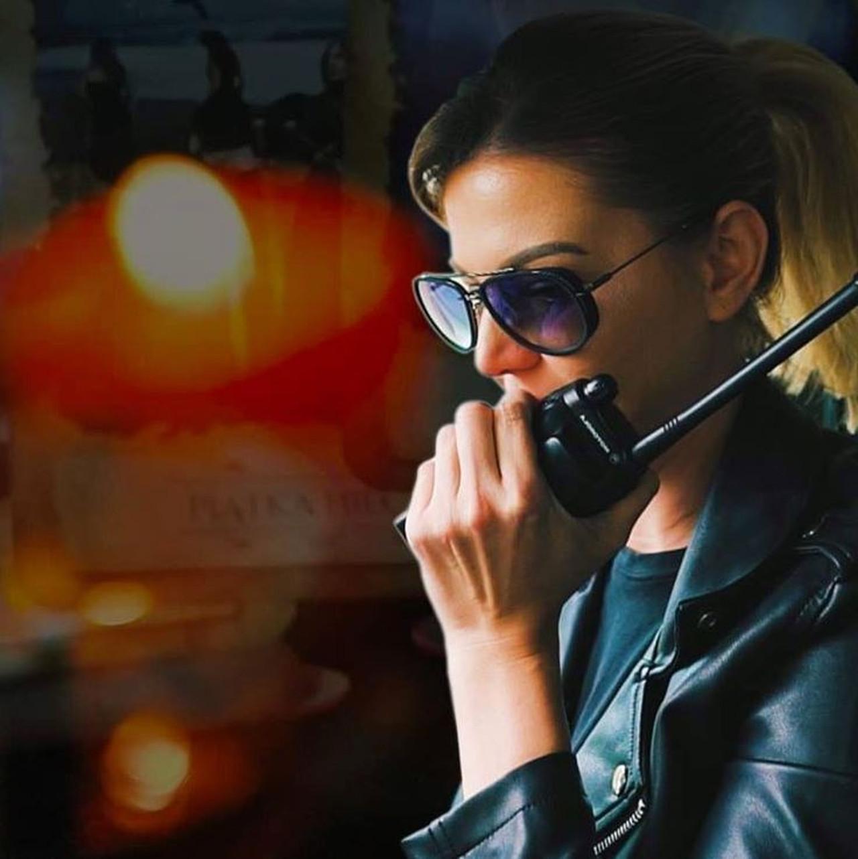 Maja Rutkowska podczas pracy, jako prywatny detektyw.