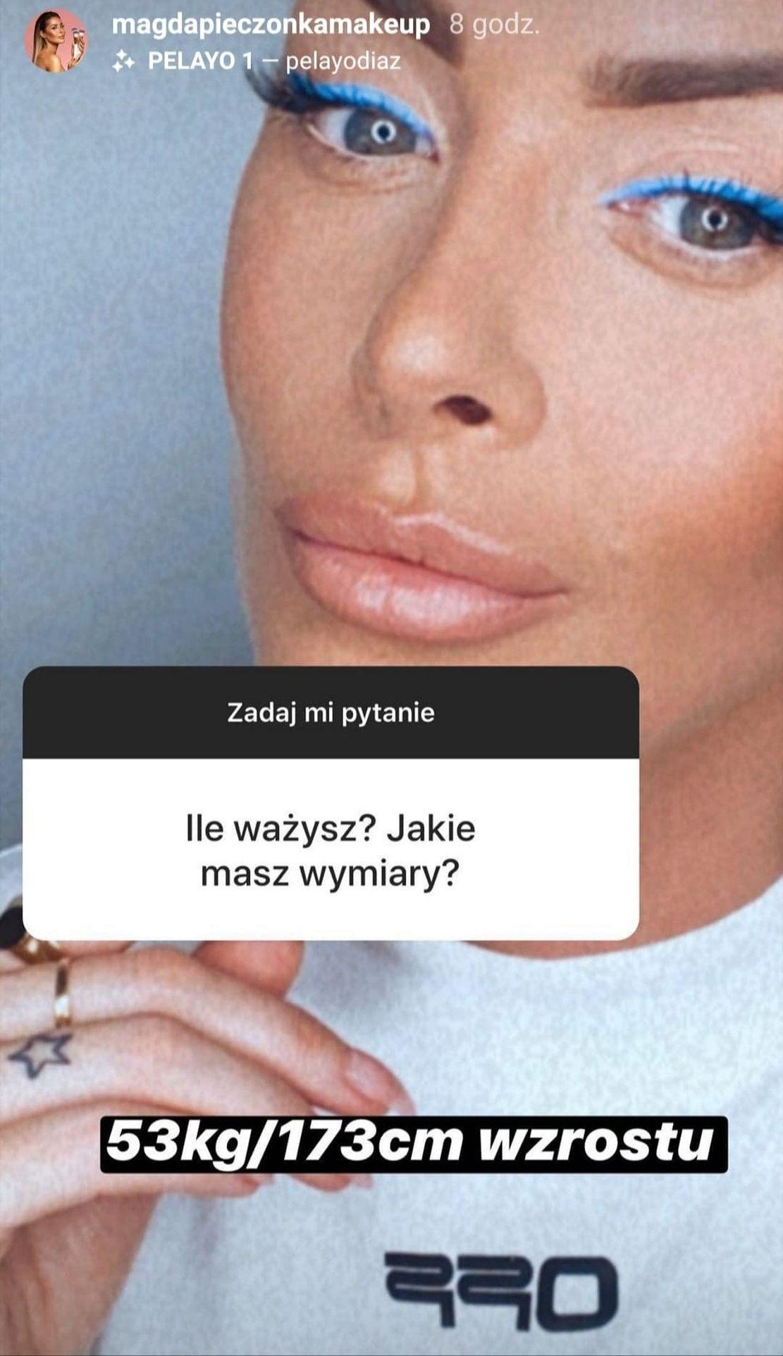 Magda Pieczonka zdradziła, ile waży
