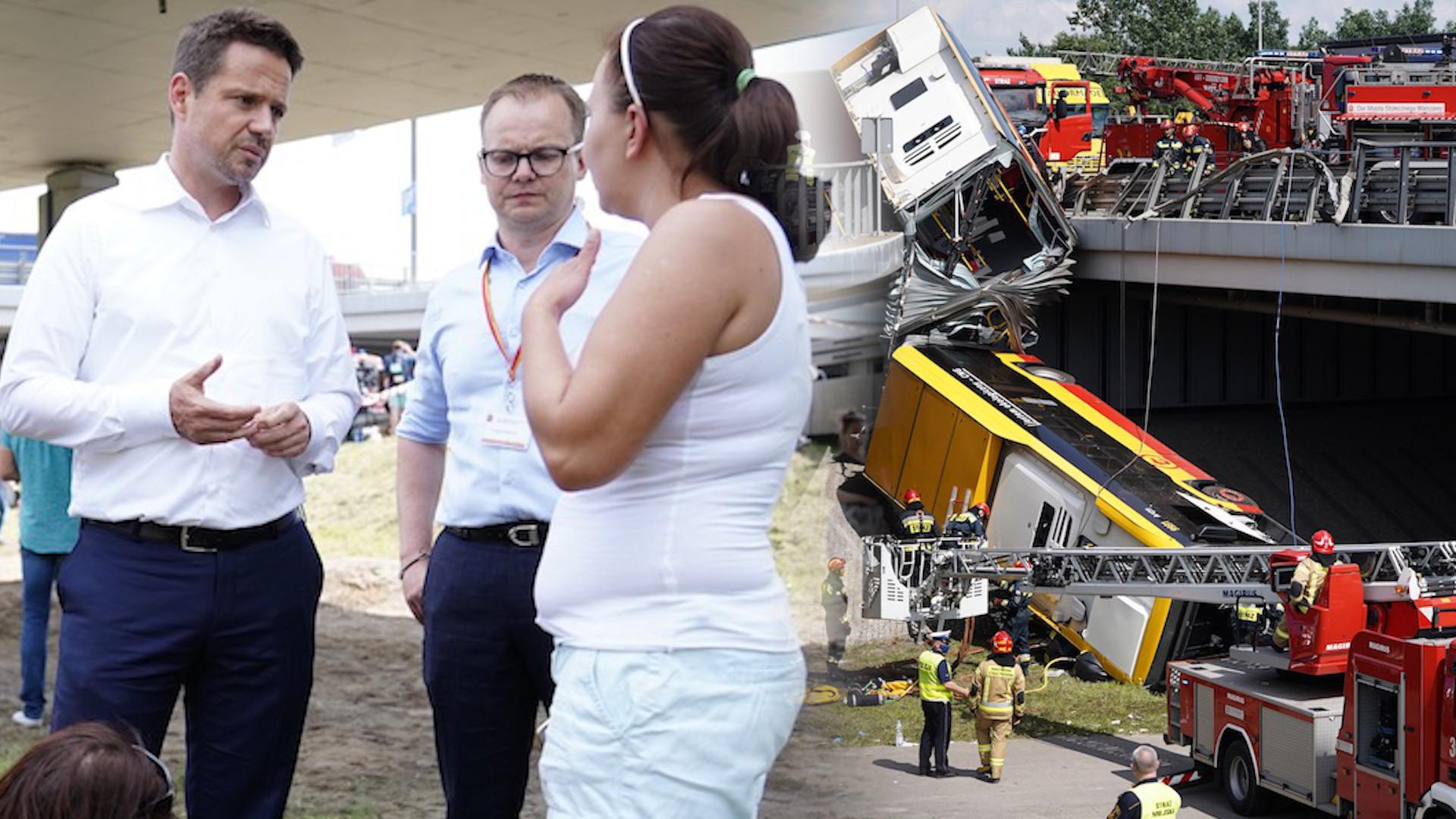 Wypadek autobusu w Warszawie: Kierowca był pod wpływem narkotyków?