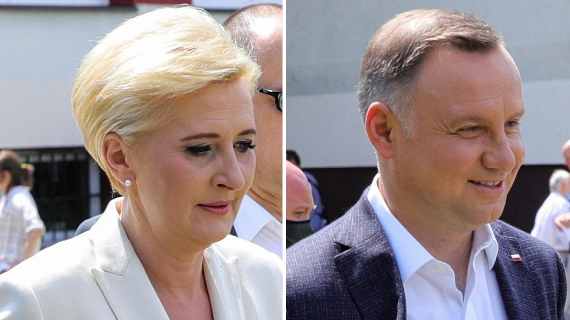 Agata Duda głosuje z mężem w KRAKOWIE. Christian Paul byłby zachwycony stylizacją pierwszej damy